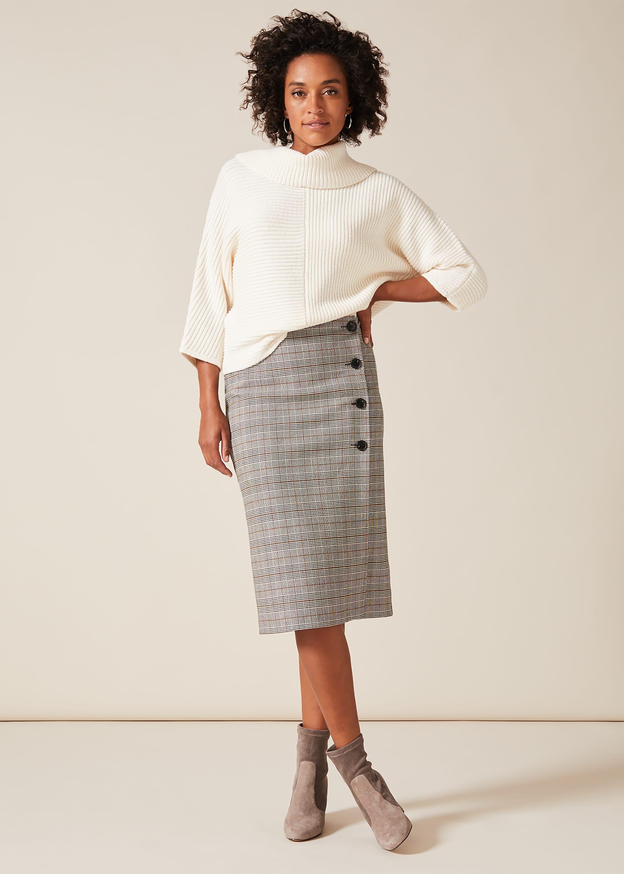 Phase Eight Women Caleb Check Pencil Skirt