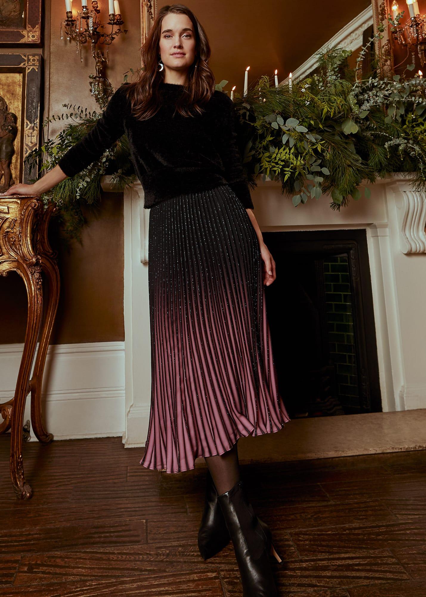 Phase Eight Women Estella Ombre Midi Skirt