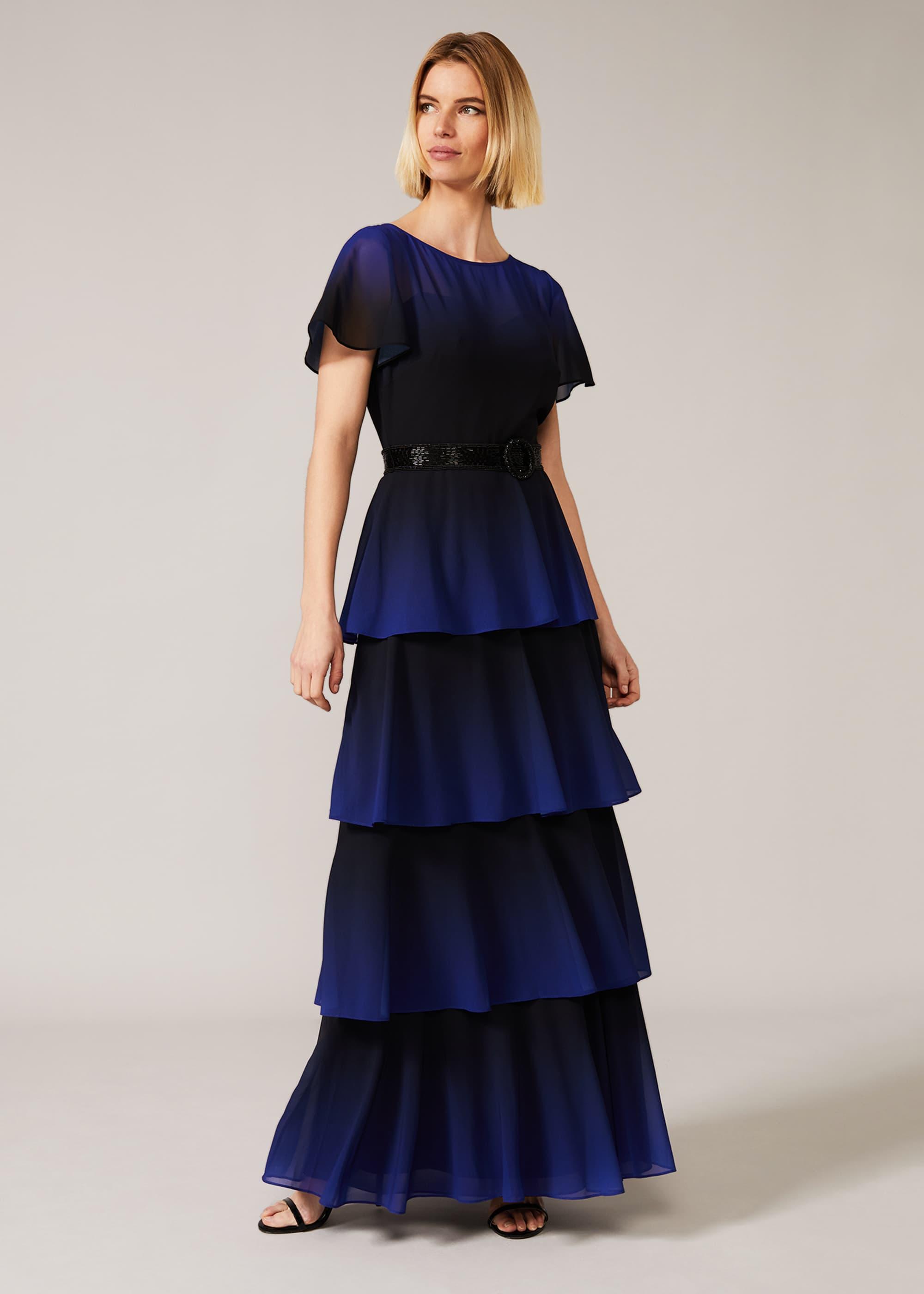 Phase Eight Women Rosalie Dipdye Tiered Dress