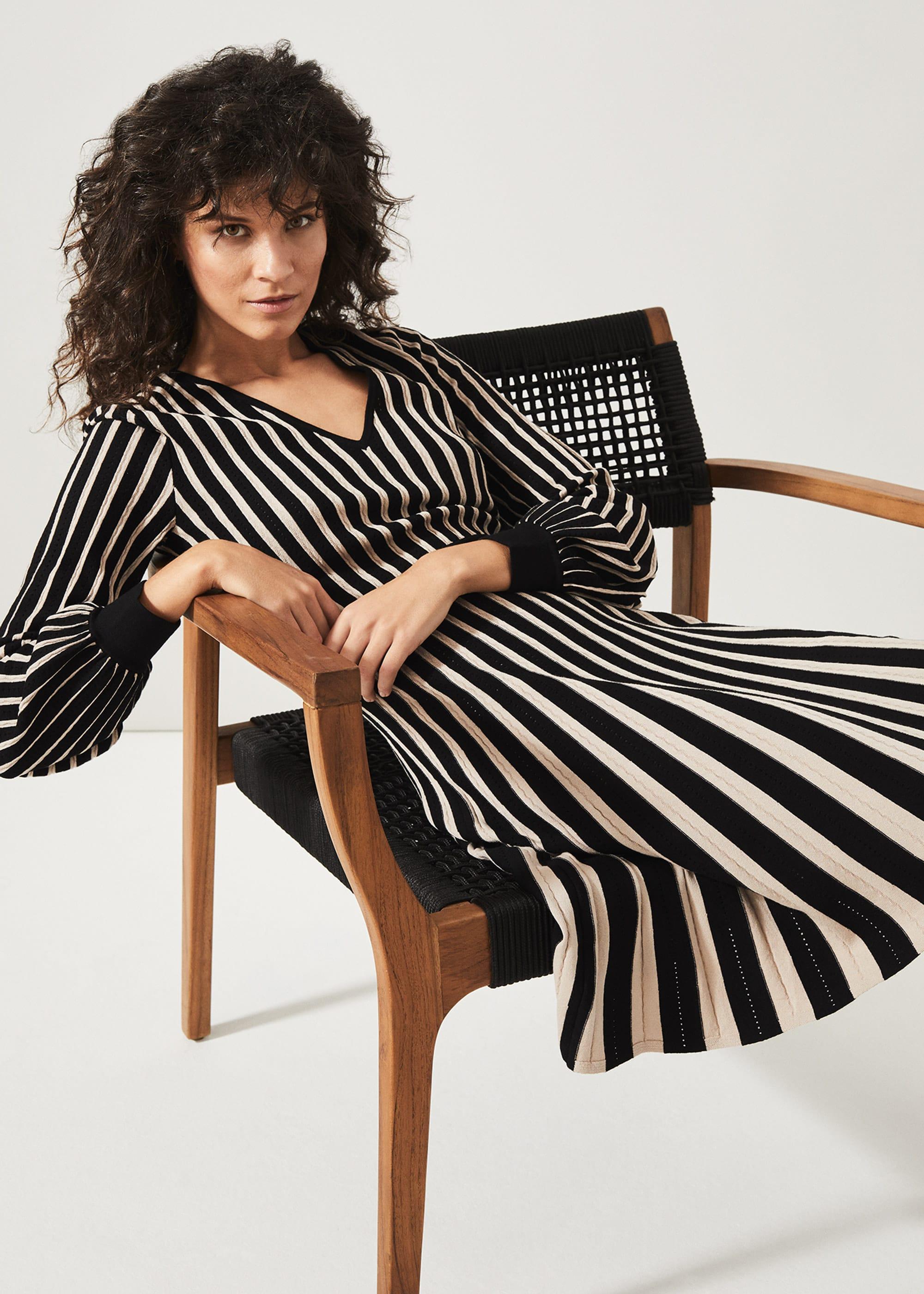 Phase Eight Women Adelheid Stripe Fit and Flare Dress