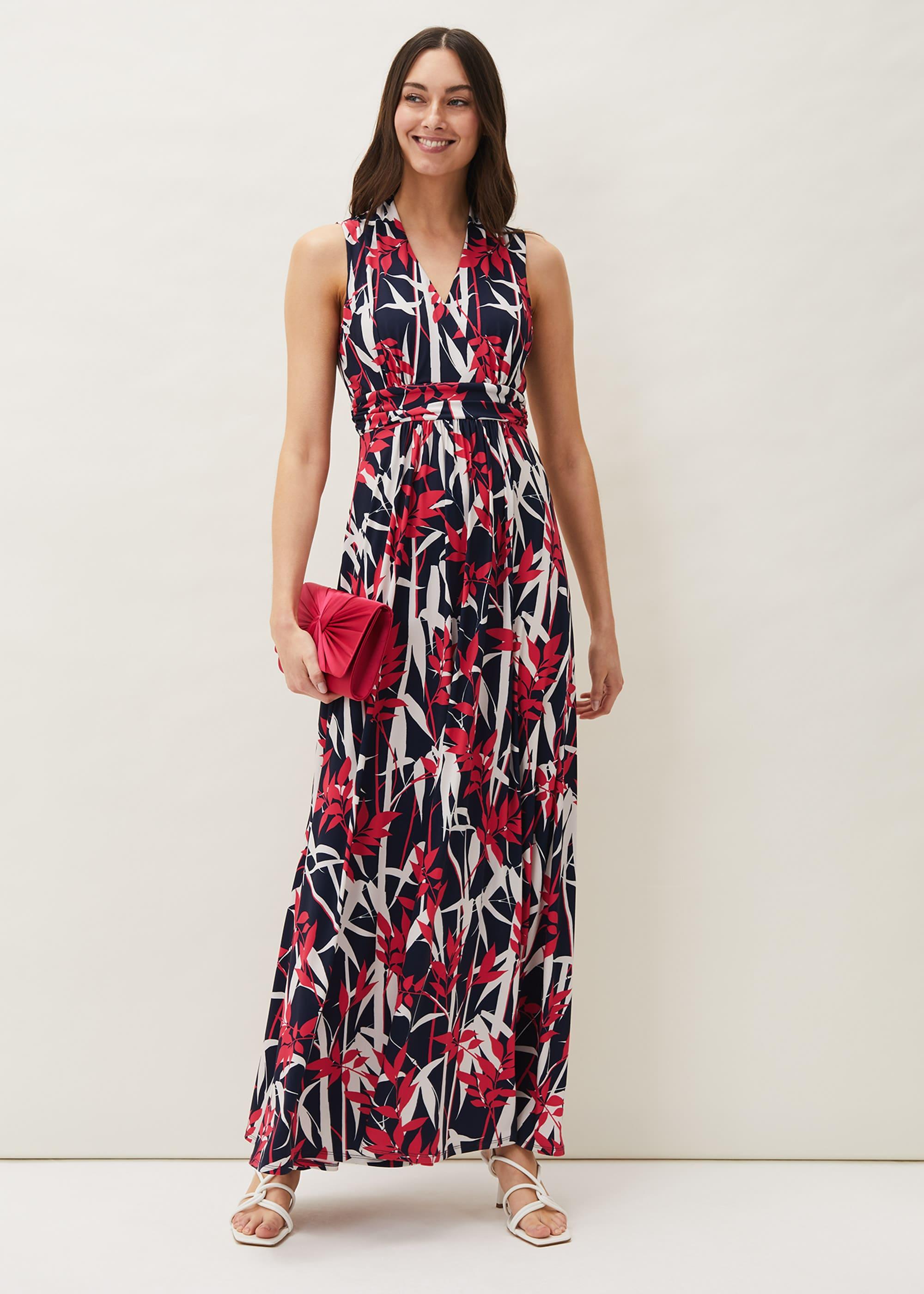 Phase Eight Women Ellen Palm Print Jersey Maxi dress