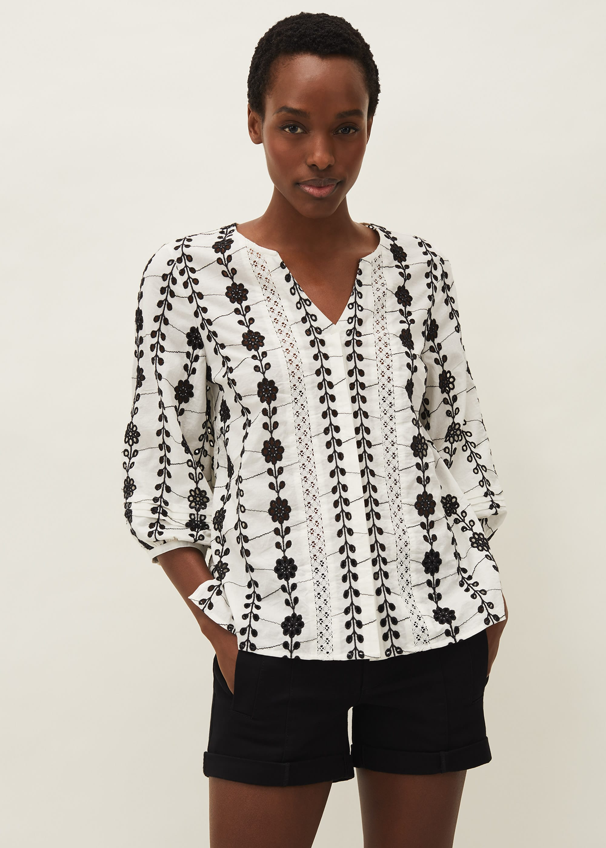 Phase Eight Women Caela Broderie Blouse