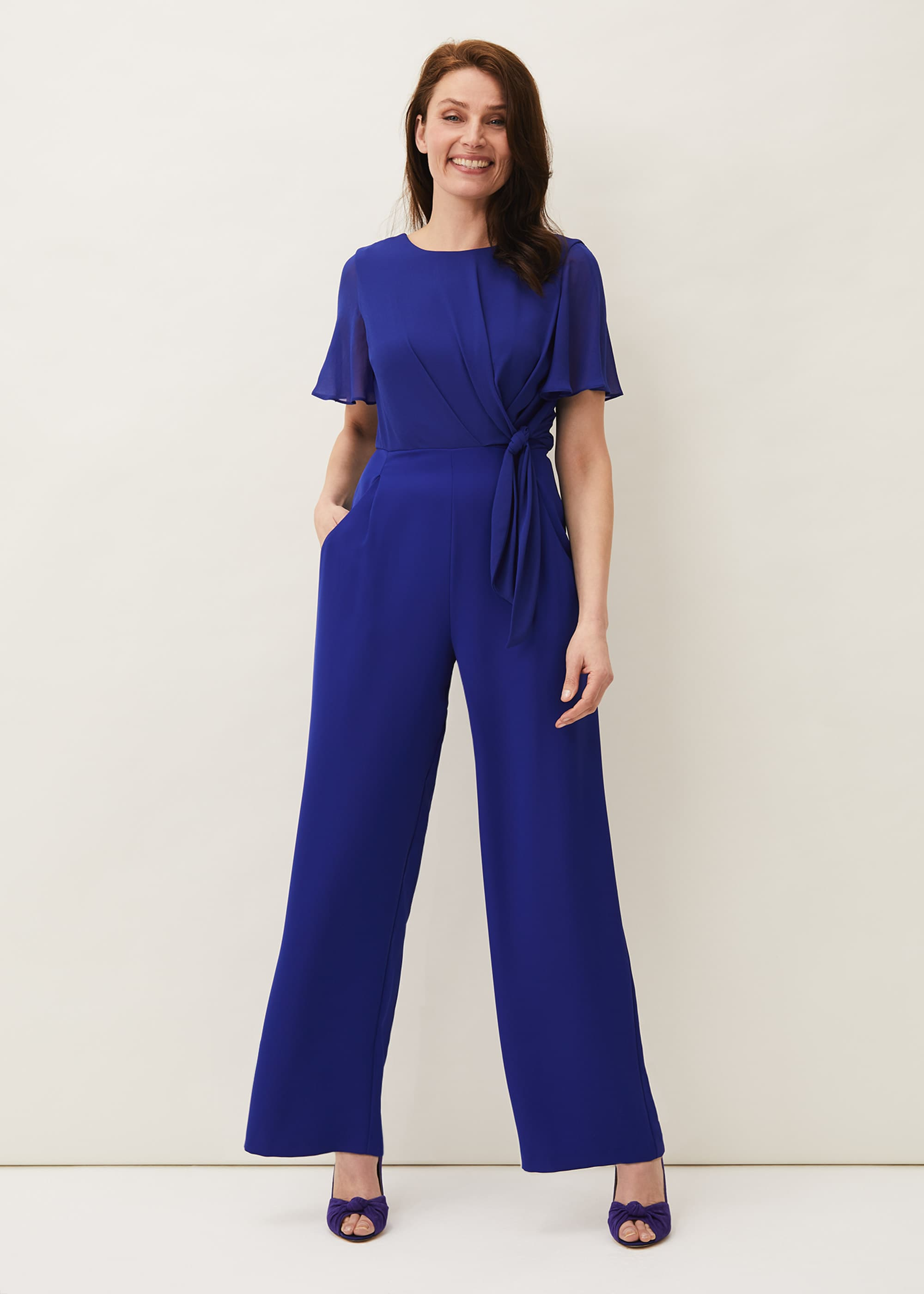 Phase Eight Women Georgette Knot Bodice Jumpsuit