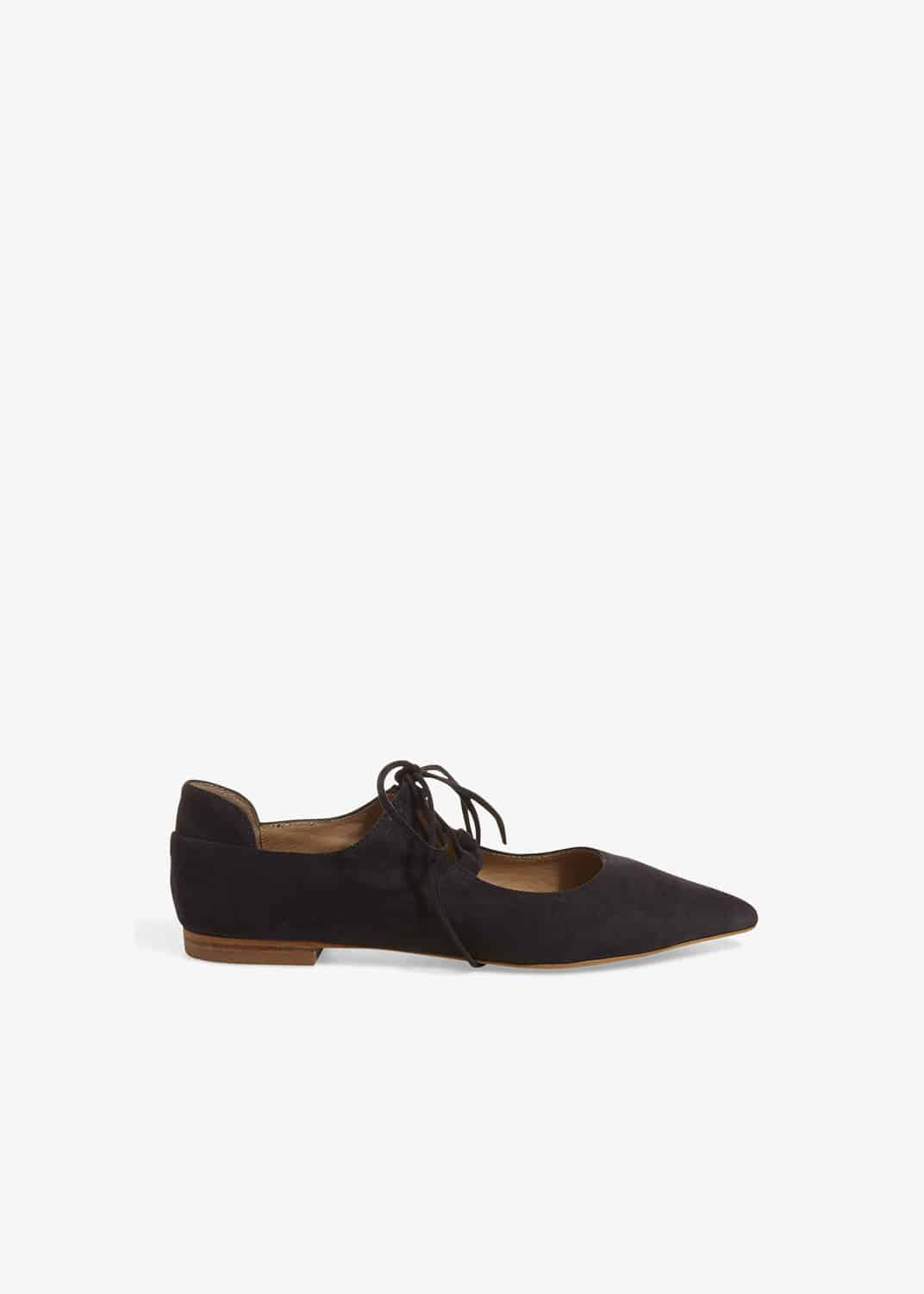 Phase Eight Women Fran Tie Front Flat Leather Shoes