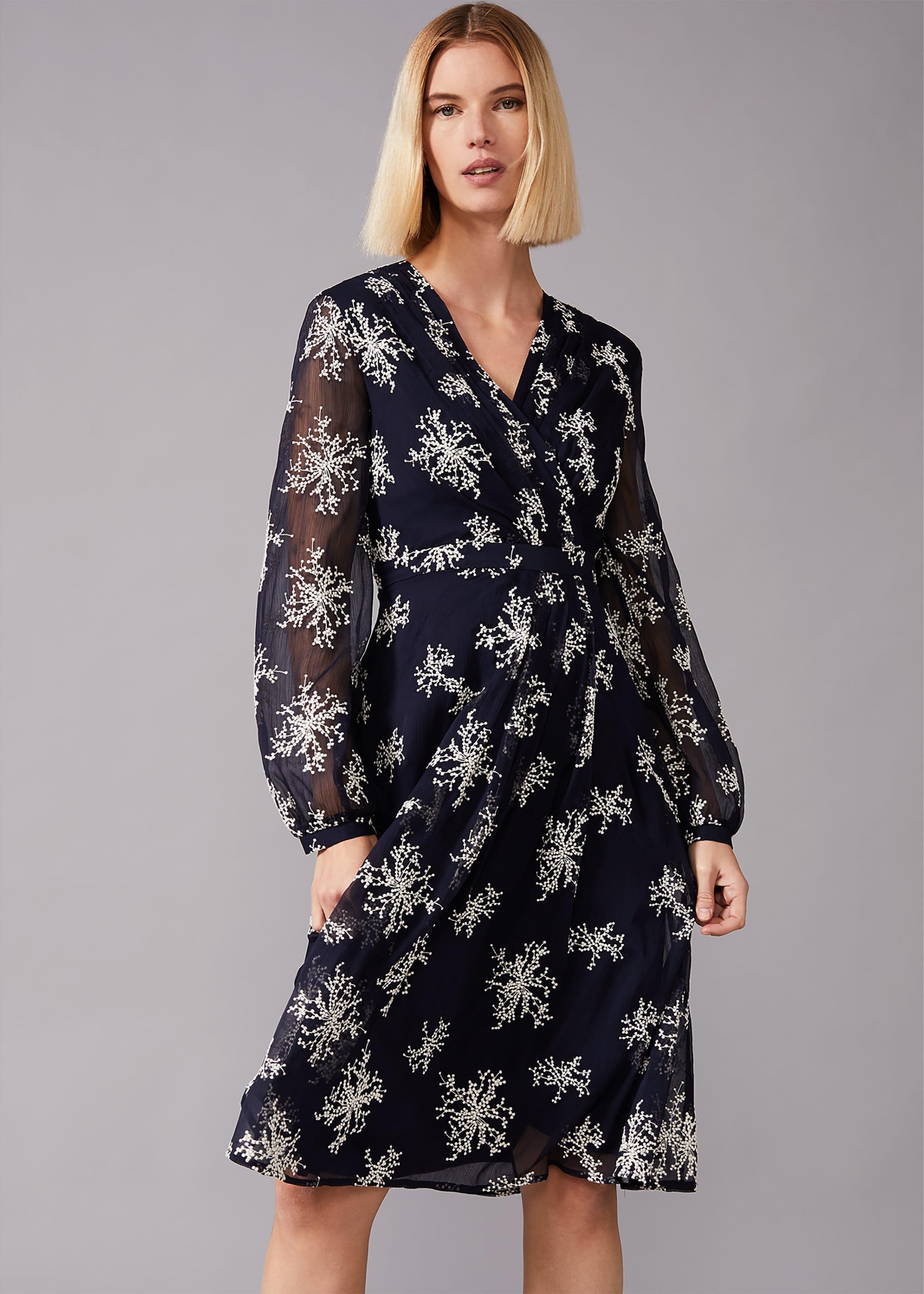 Phase Eight Women Nicki Embroidered Sprig Tea Dress