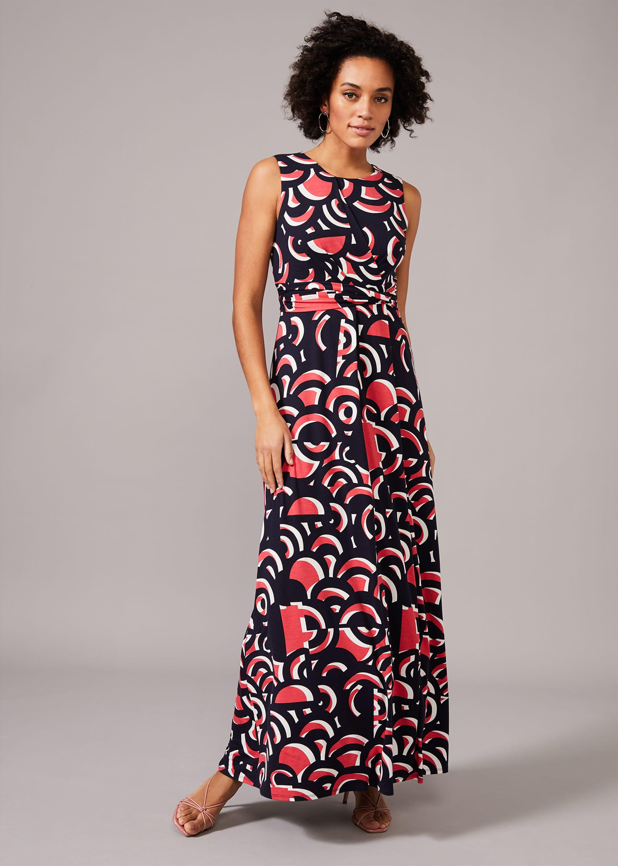 Phase Eight Women Noriko Swirl Print Maxi Dress