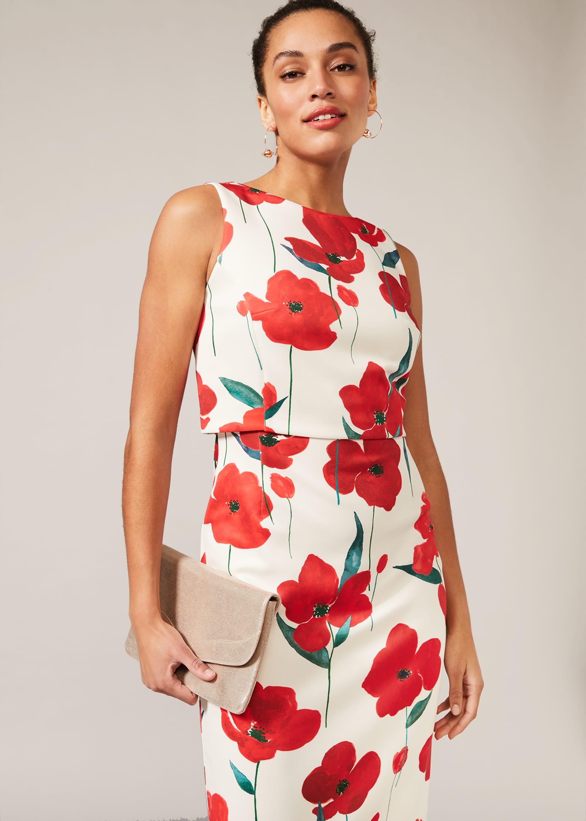 Phase Eight Women Lou-Poppy Floral Scuba Dress