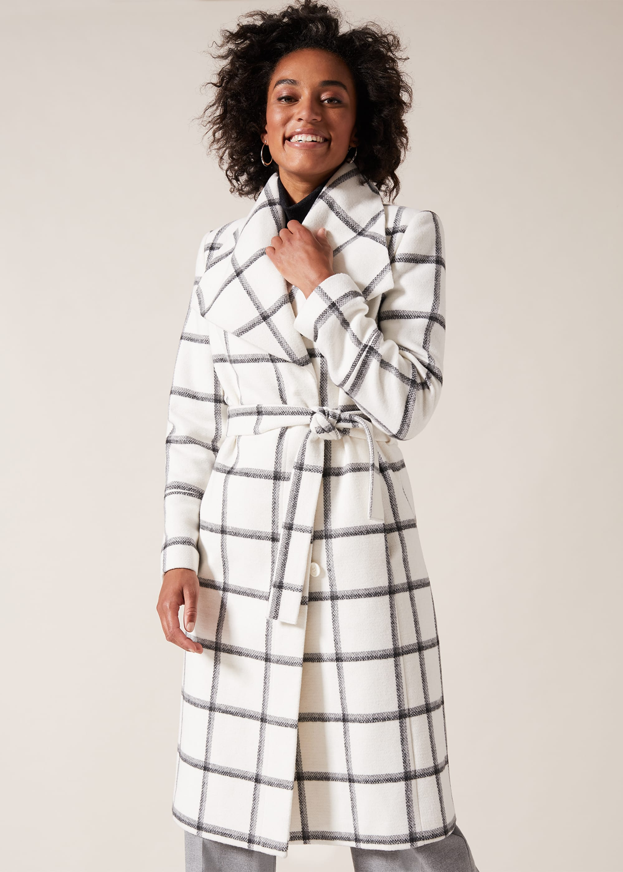 Phase Eight Women Nicci Check Coat