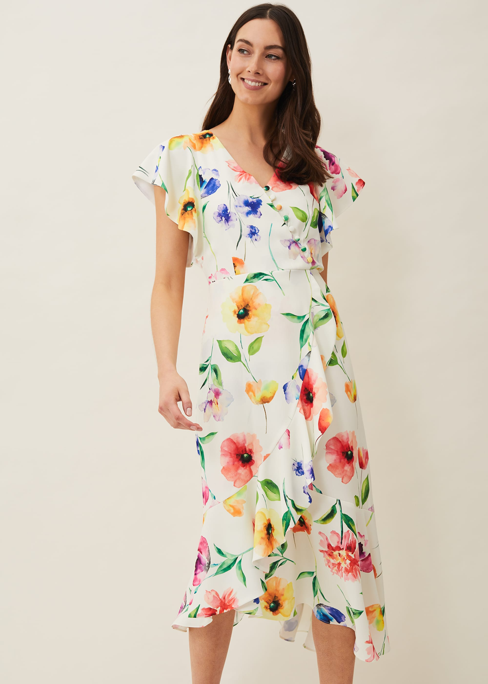 Phase Eight Women Anthea Floral Frill Dress