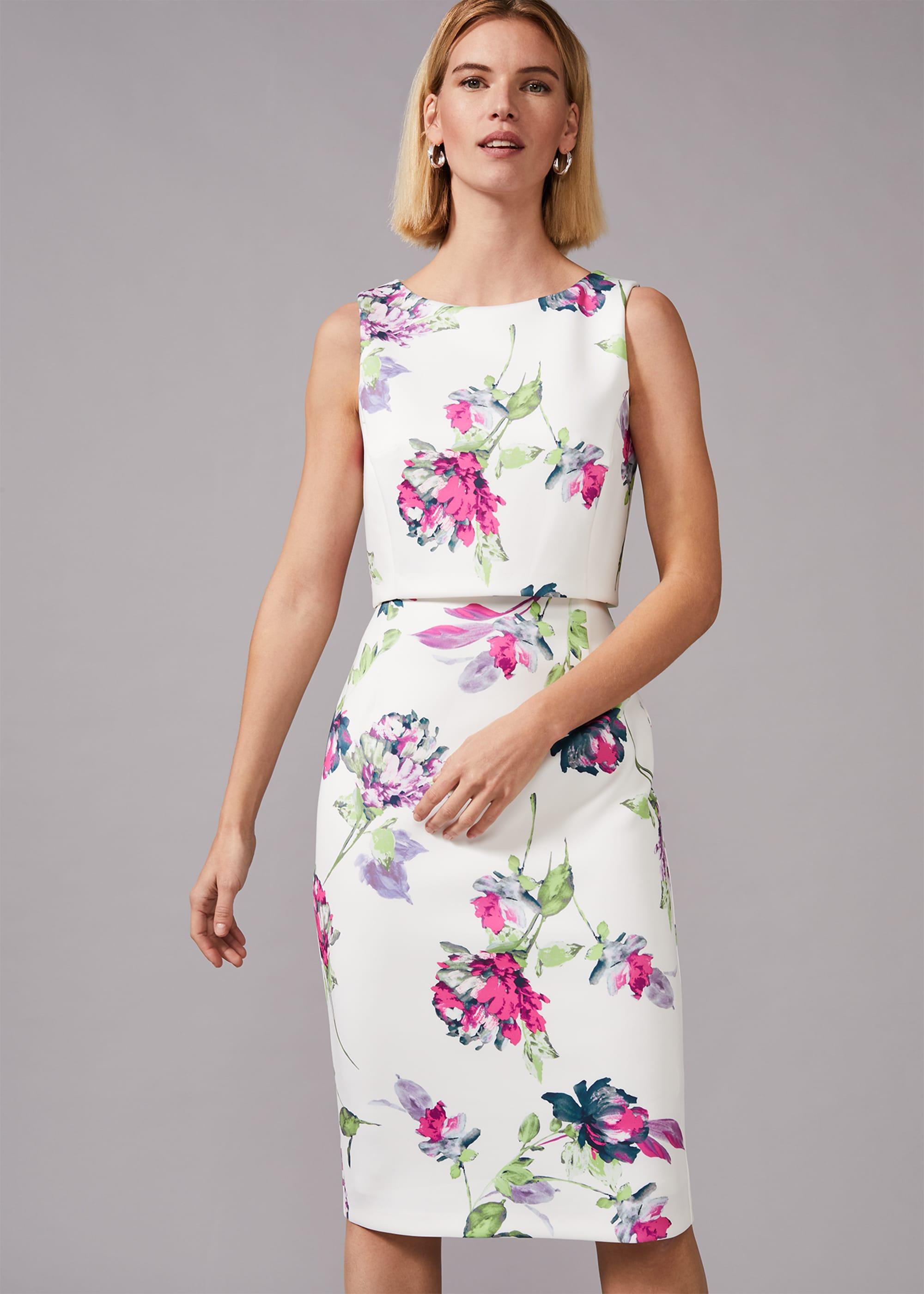 Phase Eight Women Tabatha Floral Scuba Dress