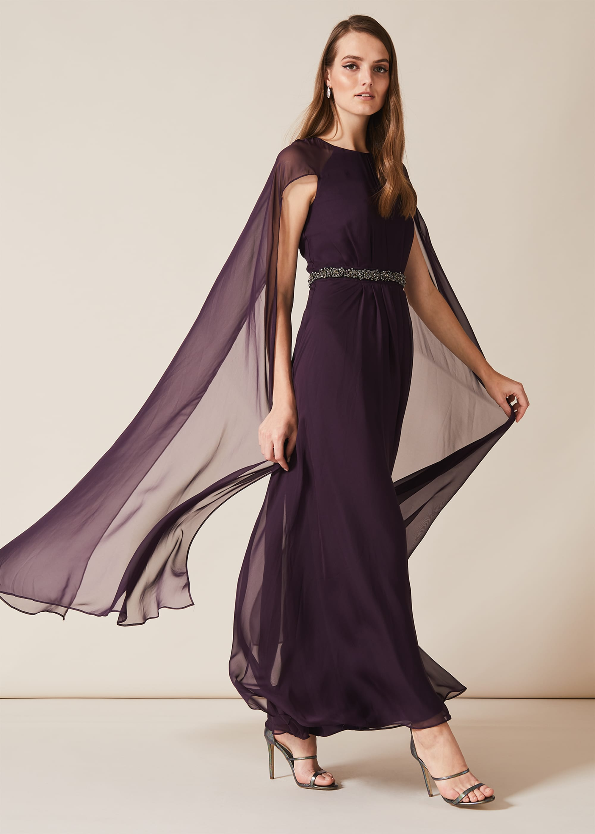 Phase Eight Women Samira Cape Beaded Dress