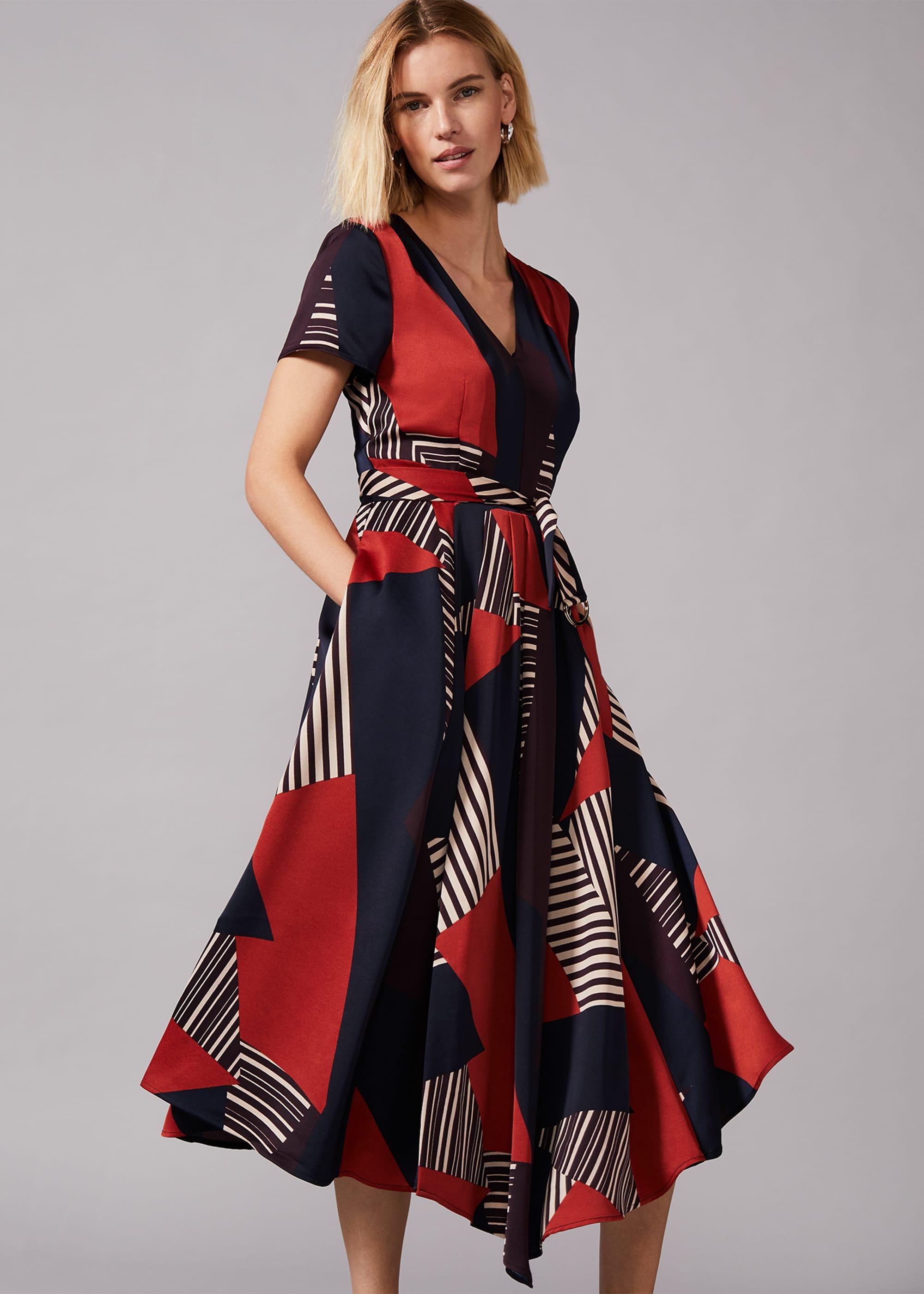 Phase Eight Women Clarice Graphic Print Dress