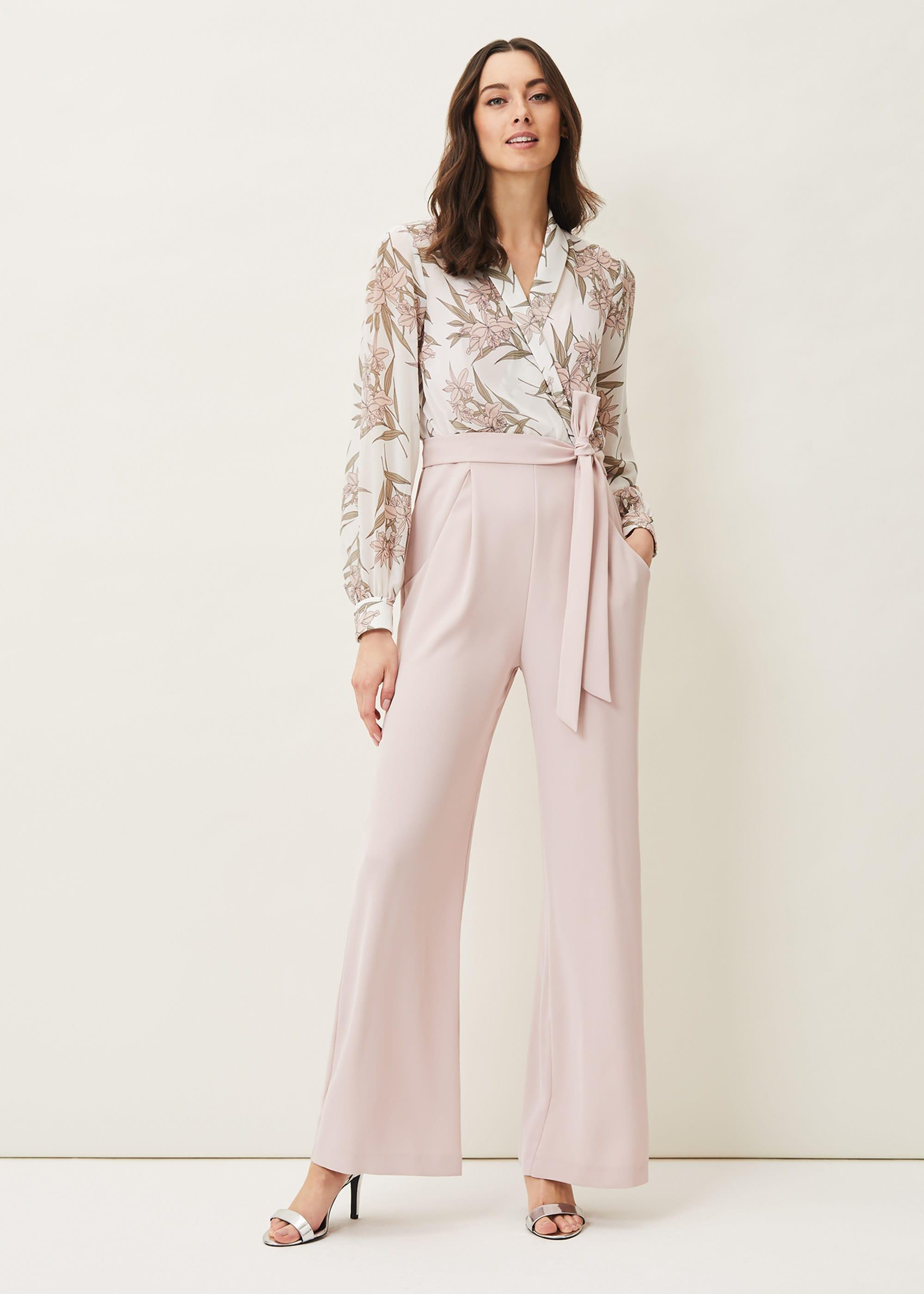 Phase Eight Women Gracen Palm Print Bodice Jumpsuit