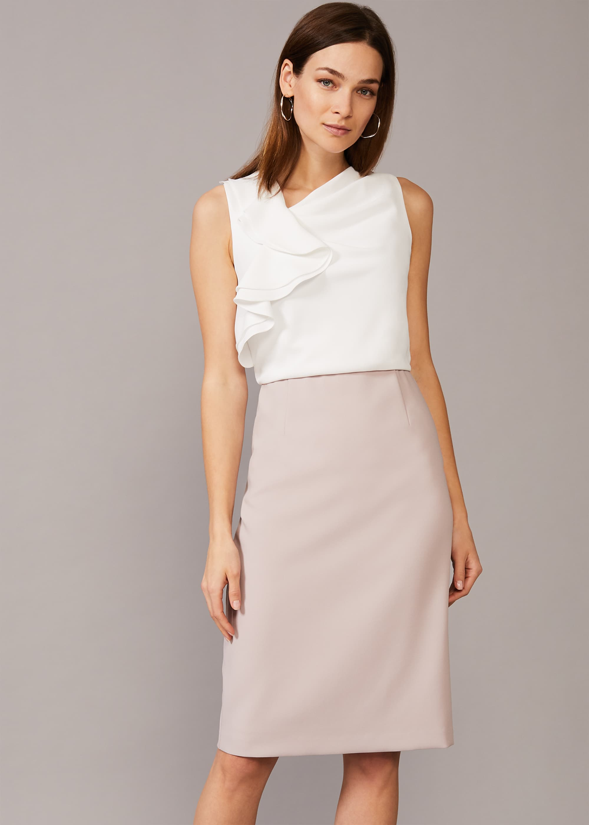 Phase Eight Women Maeve Frill Fitted Dress