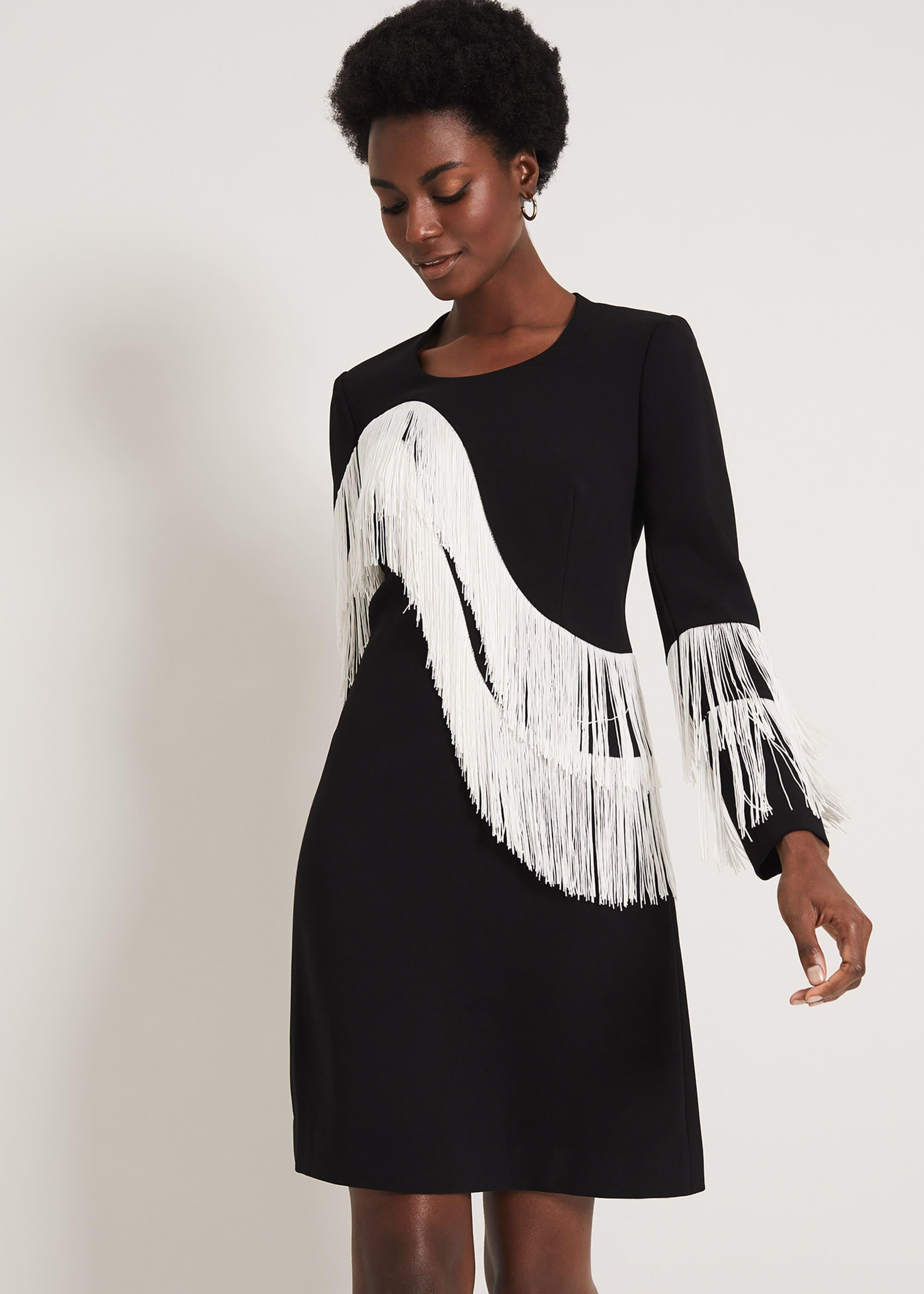 Damsel in a Dress Women Abline Fringe Dress