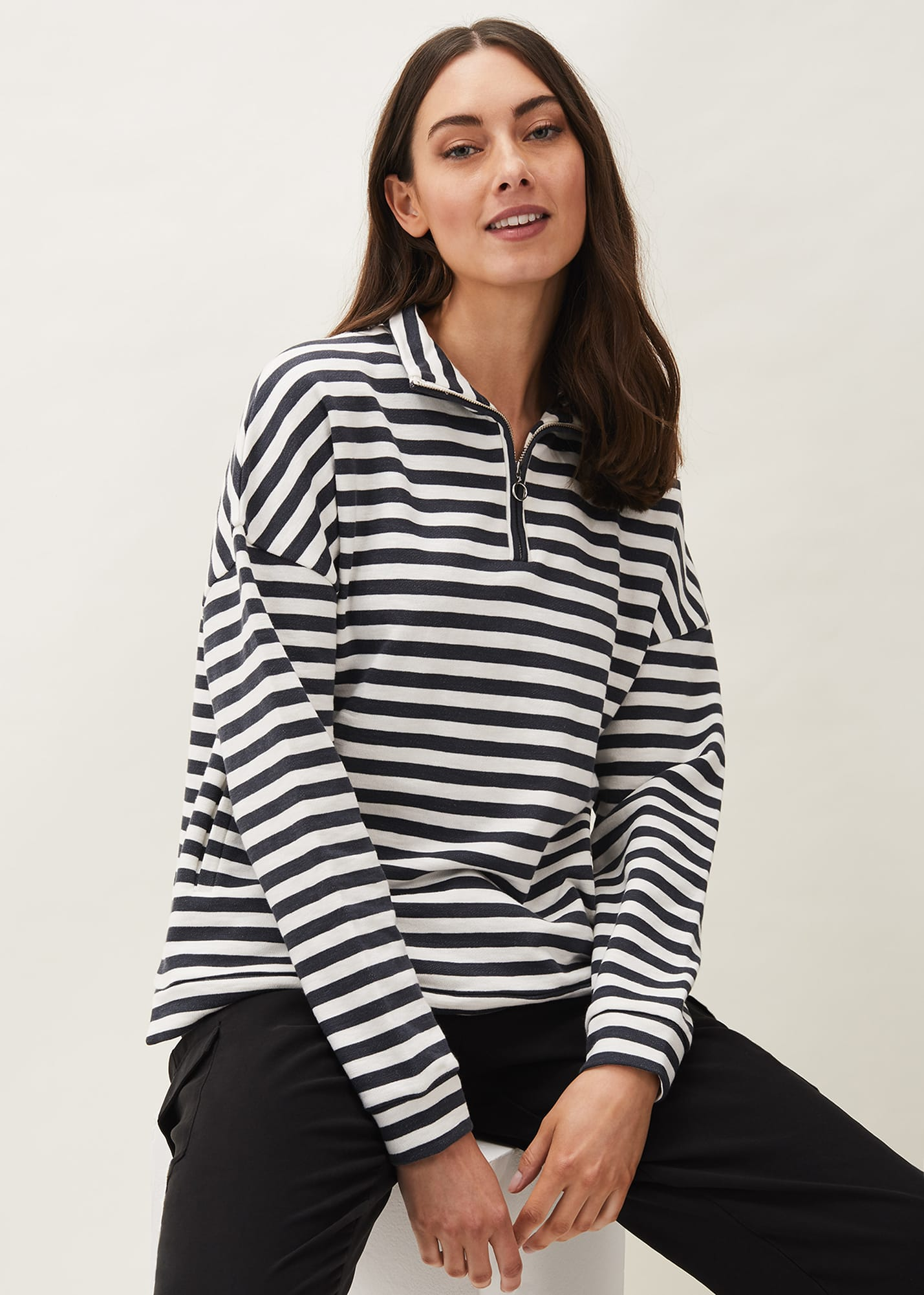 Phase Eight Women Leah Stripe Funnel Neck Top