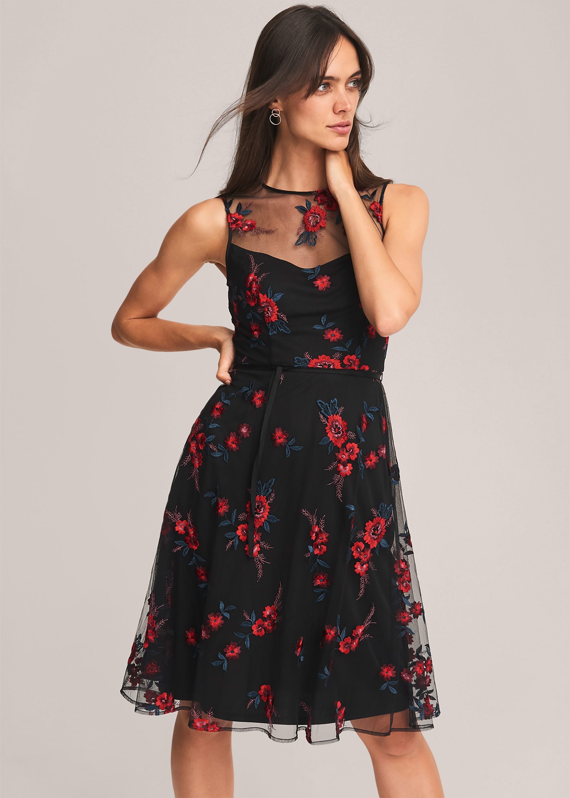 Phase Eight Women Maylin Embroidered Fit And Flare Dress