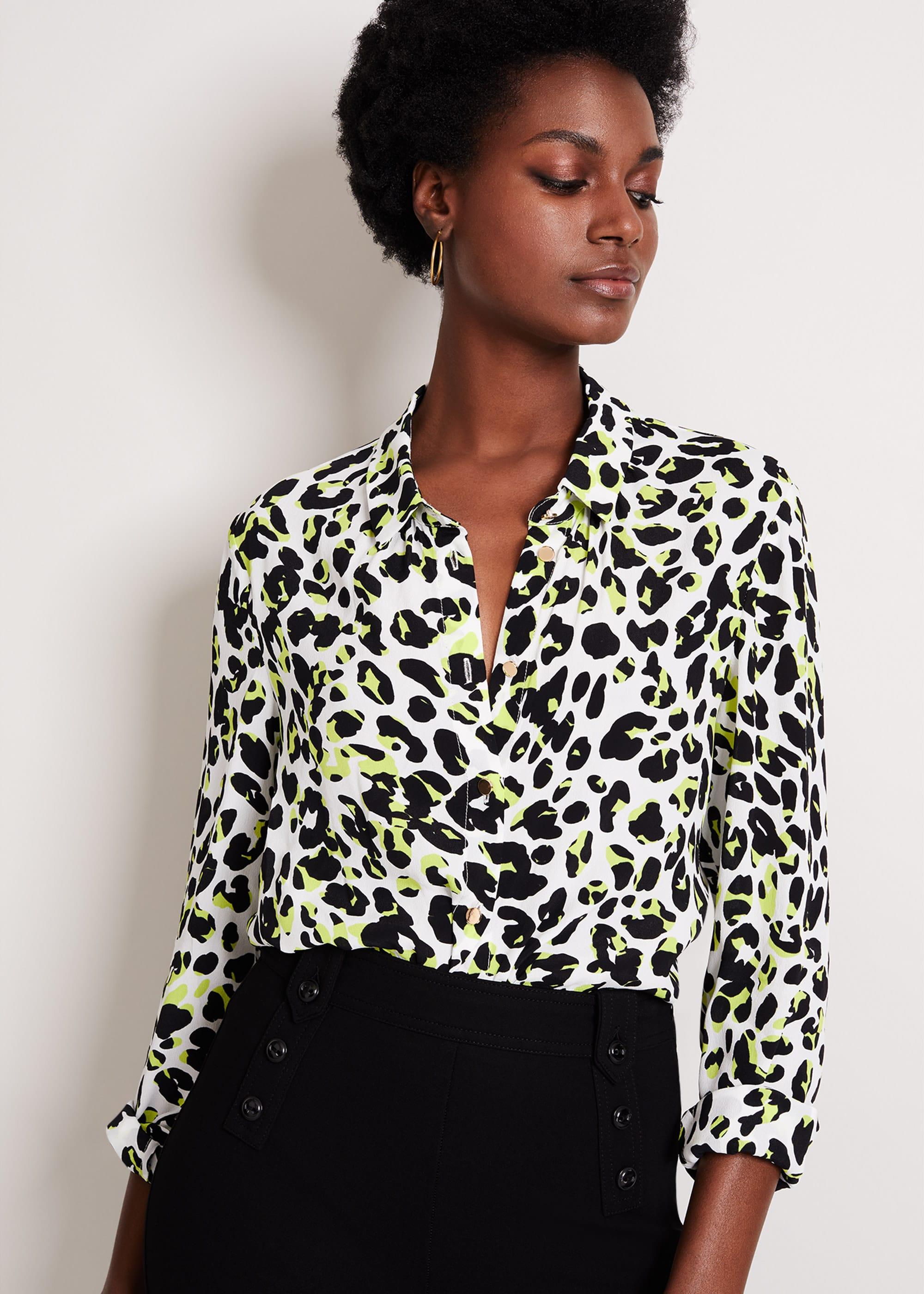 Damsel in a Dress Women Urban Silk Blend Leopard Blouse