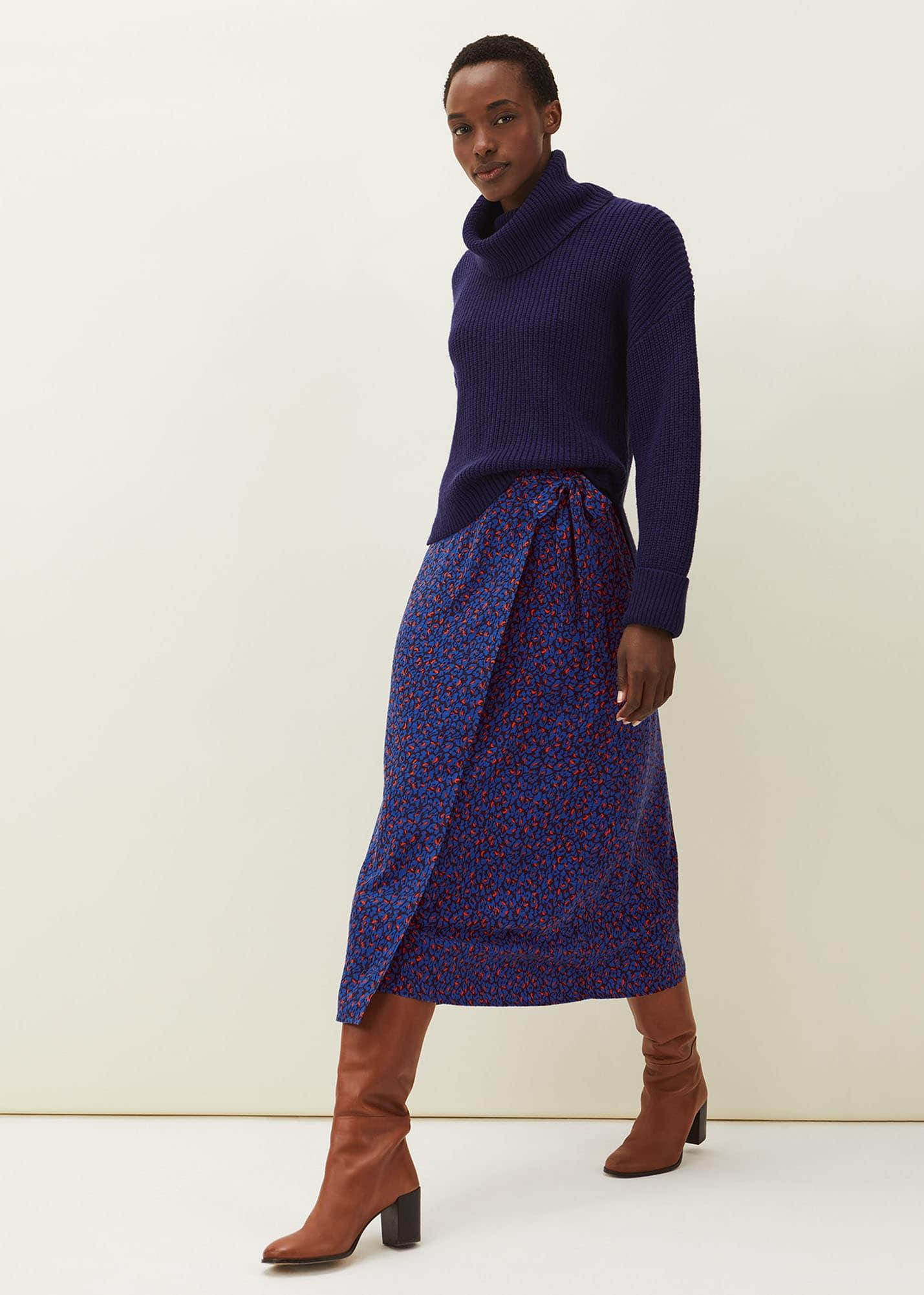 Phase Eight Women Lou Lou Animal Print Wrap Skirt