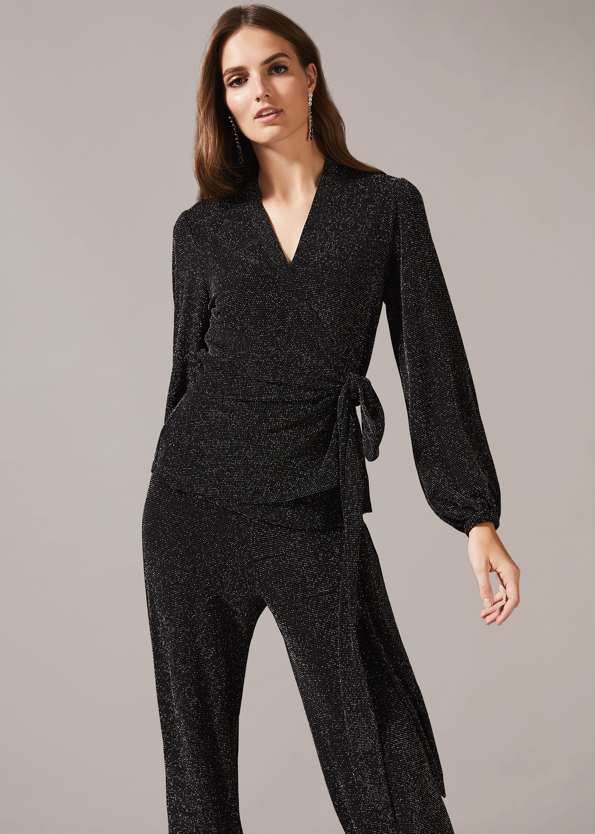 Phase Eight Women Stardust Co-ord Wrap Blouse