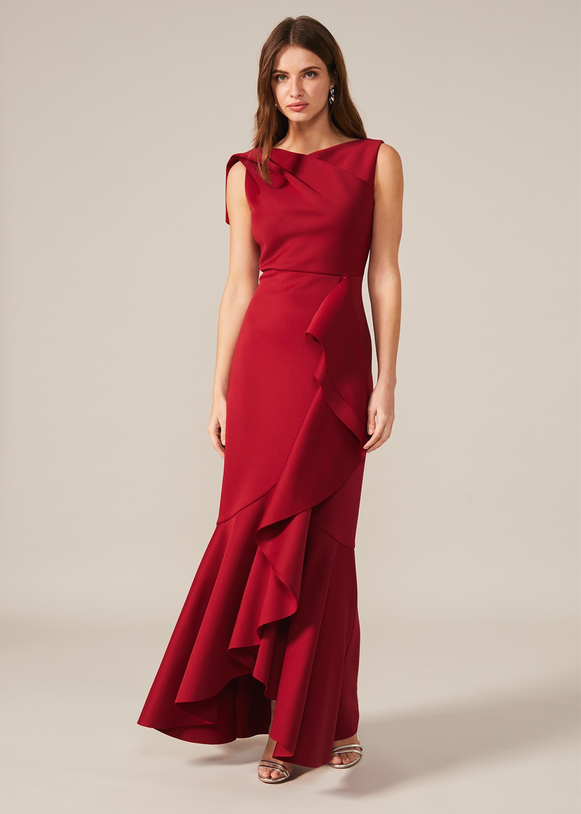 Phase Eight Women Devita Frill Scuba Dress