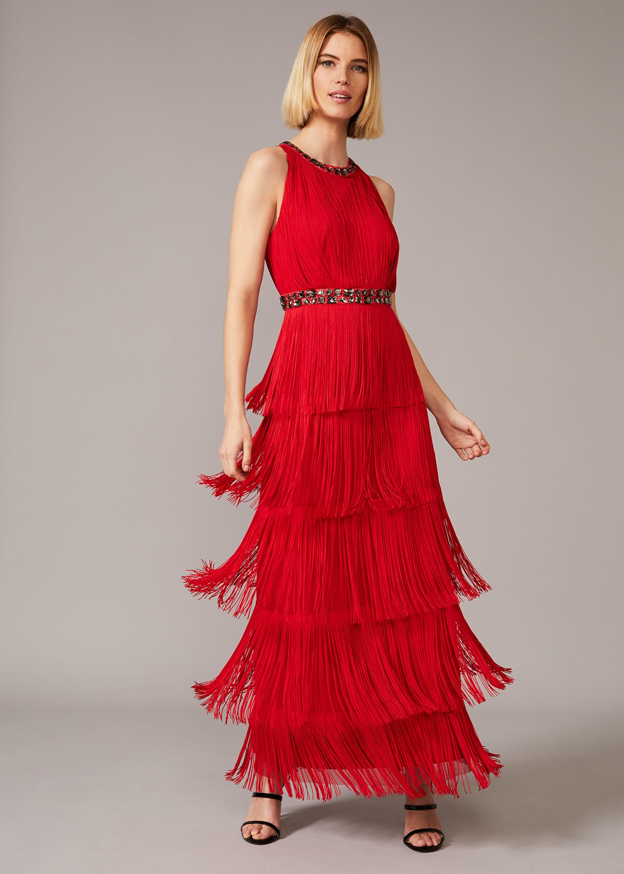Phase Eight Women Albertina Fringe Maxi Dress