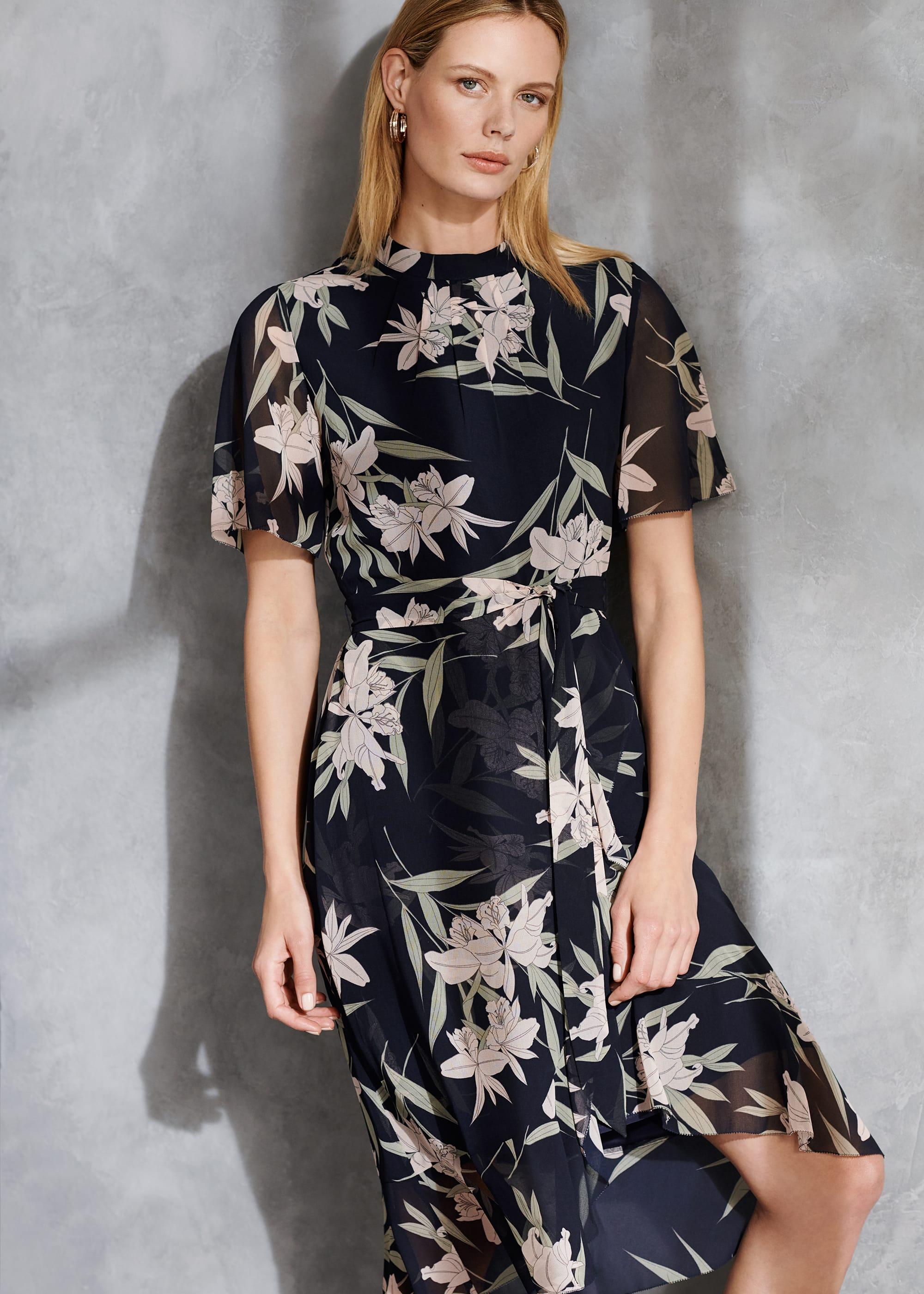 Phase Eight Women Gracen Palm Print Tea Dress