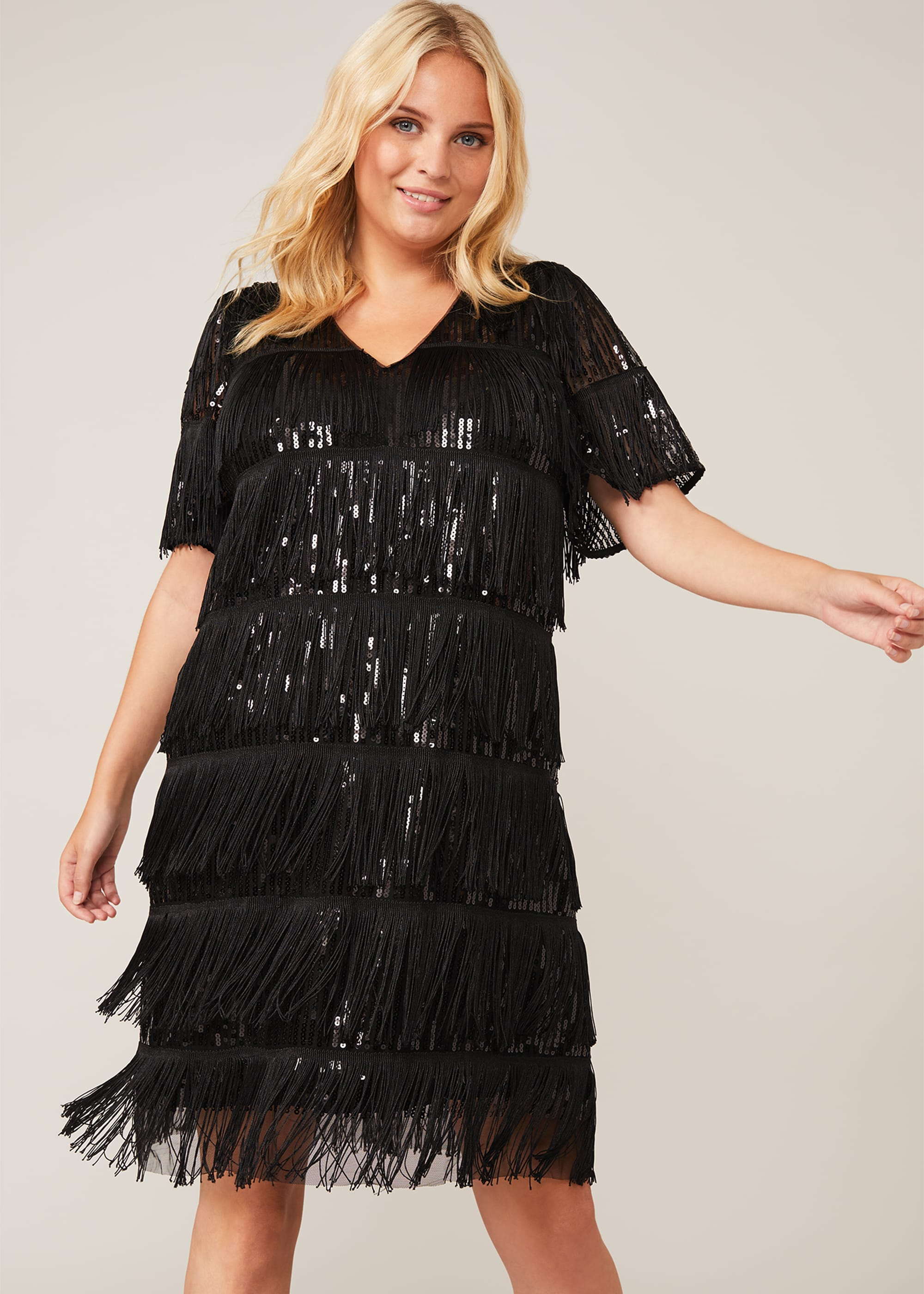 Studio 8 Women Farina Sequin Fringe Dress