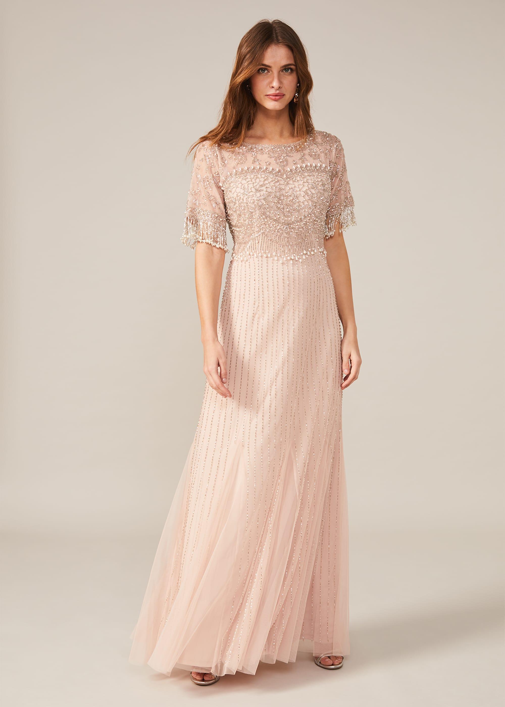Phase Eight Women Leonie Pearl Fringe Dress