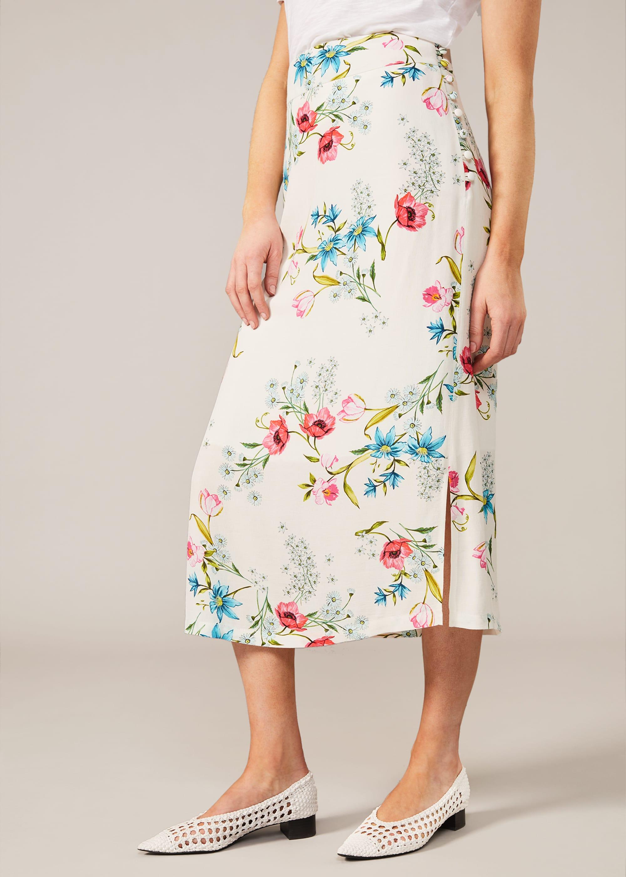 Phase Eight Women Natyla Floral Midi Skirt
