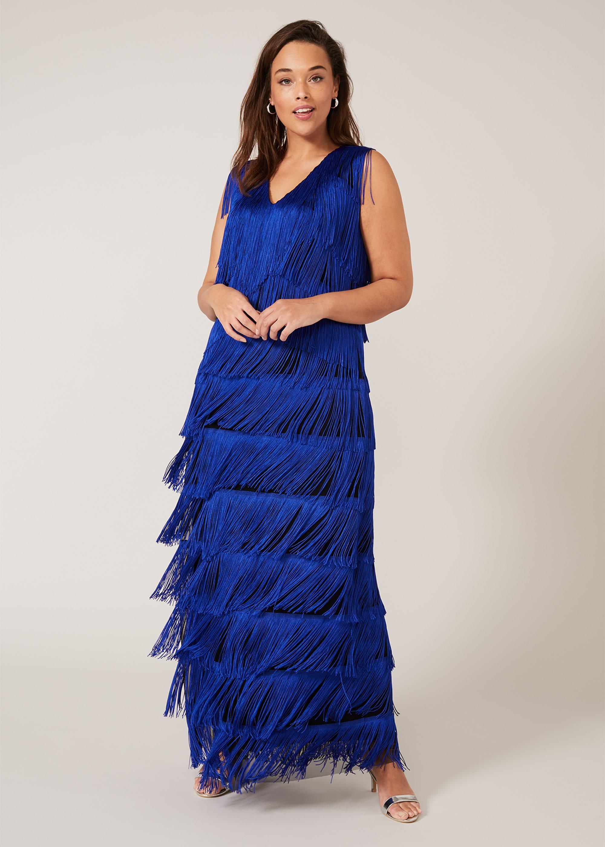 Studio 8 Women Tessa Fringe Maxi Dress