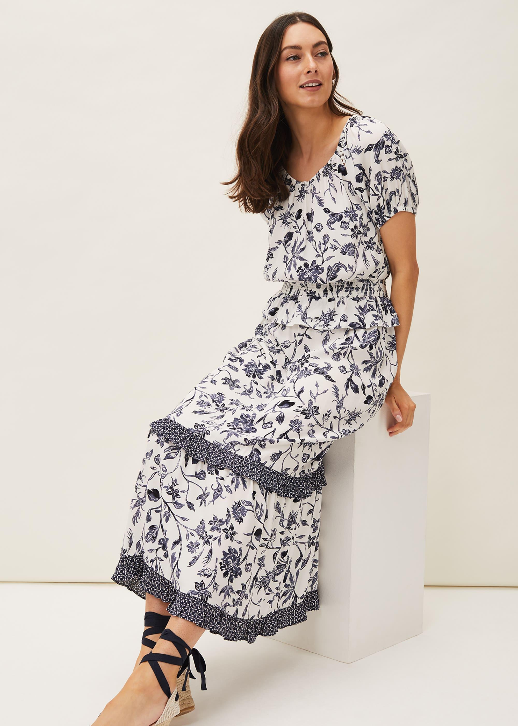 Phase Eight Women Ferne Floral Co-ord Midi Skirt