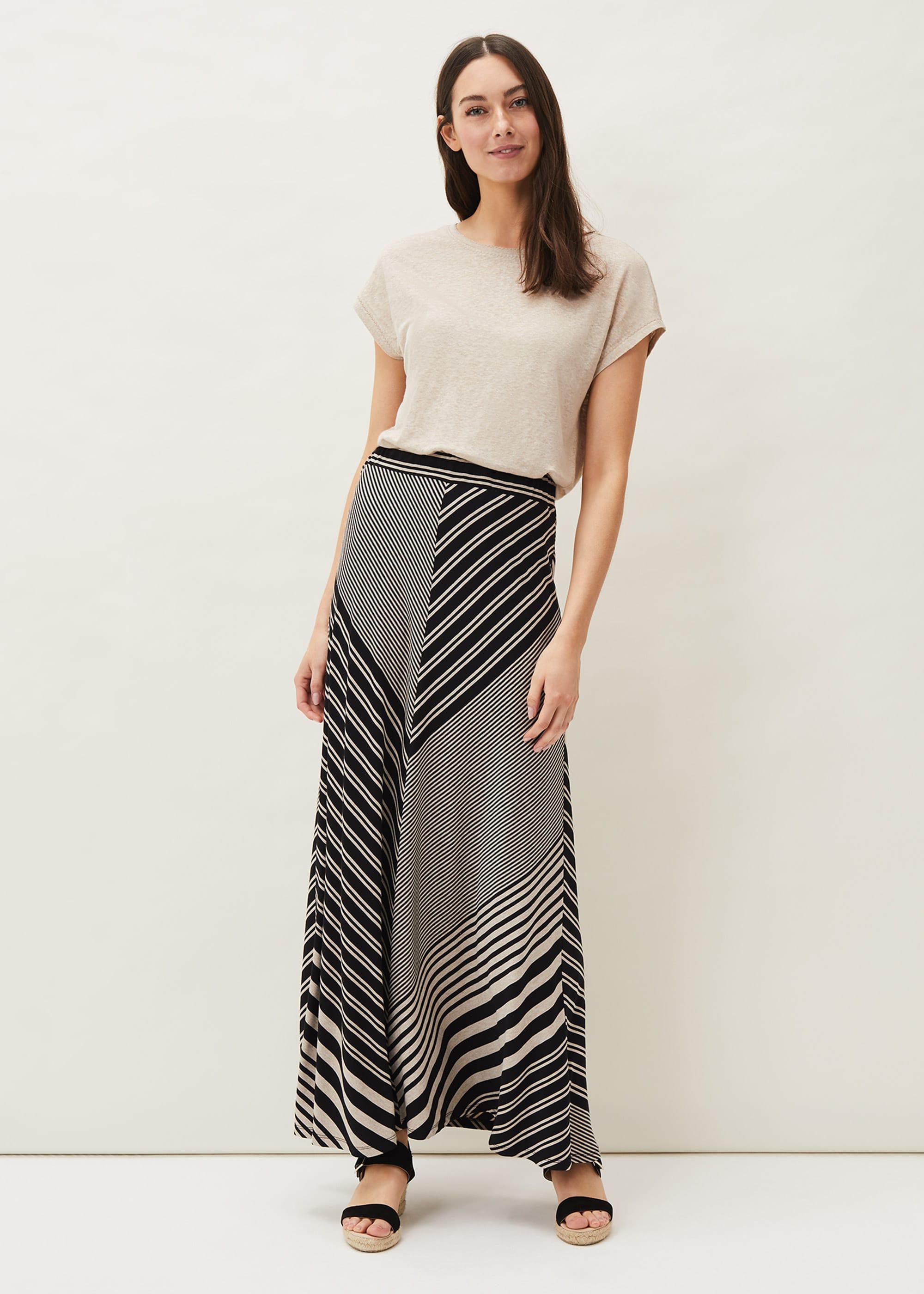 Phase Eight Women Roz Stripe Maxi Skirt