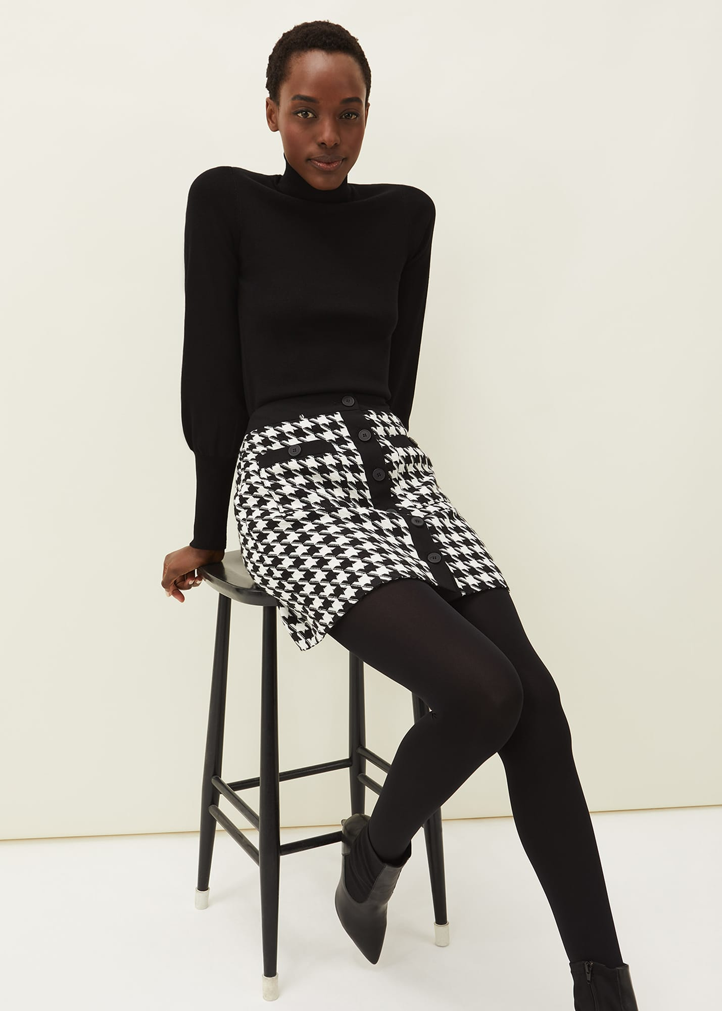 Phase Eight Women Alicia Dogtooth Skirt