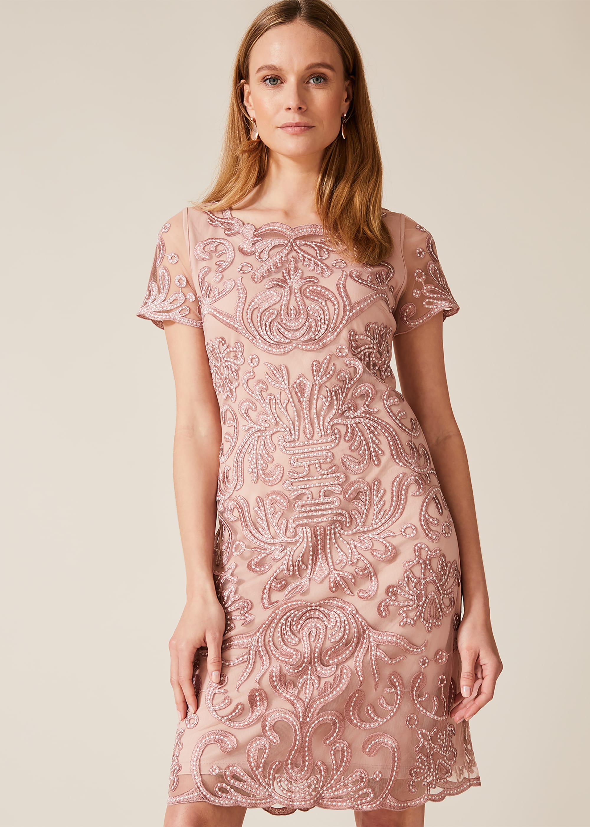Phase Eight Women Talia Embroidered Dress