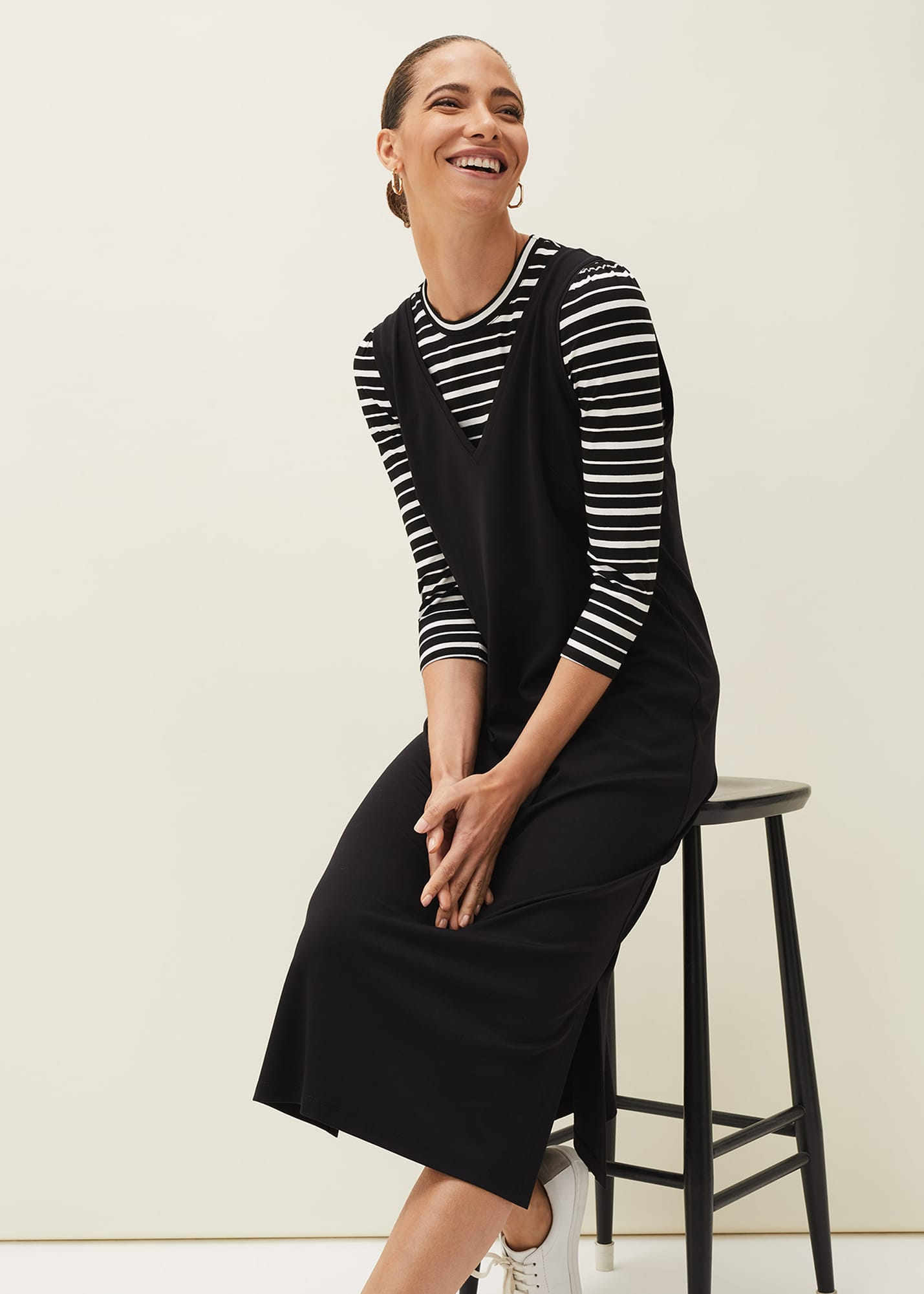Phase Eight Women Catya Two Piece Stripe Top and Dress