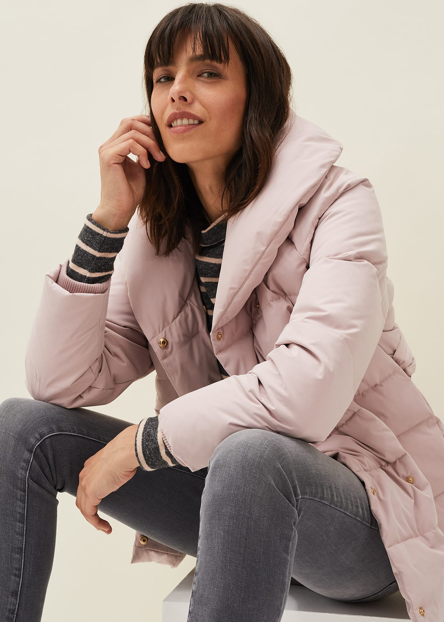 Phase Eight Women Kyra Short Wrap Puffer Coat