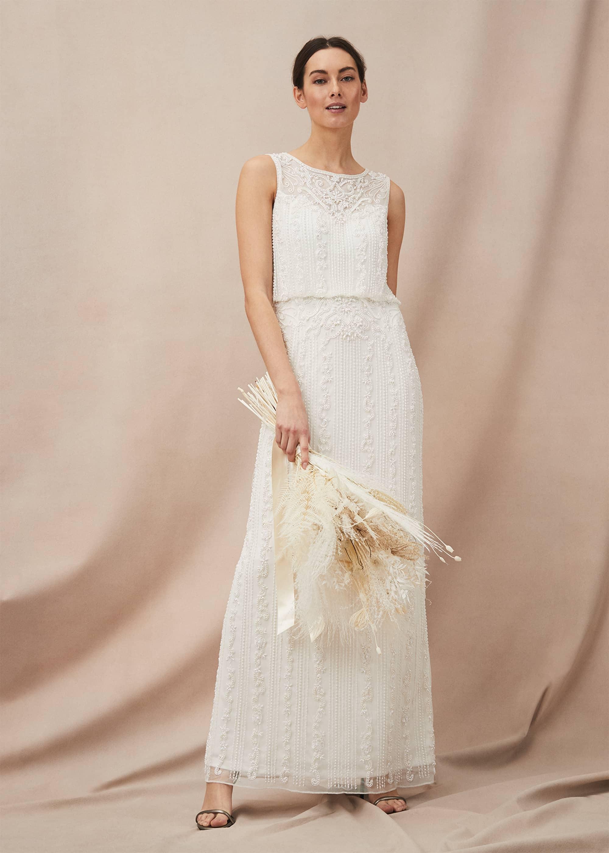 Phase Eight Women Evalina Embellished Wedding Dress