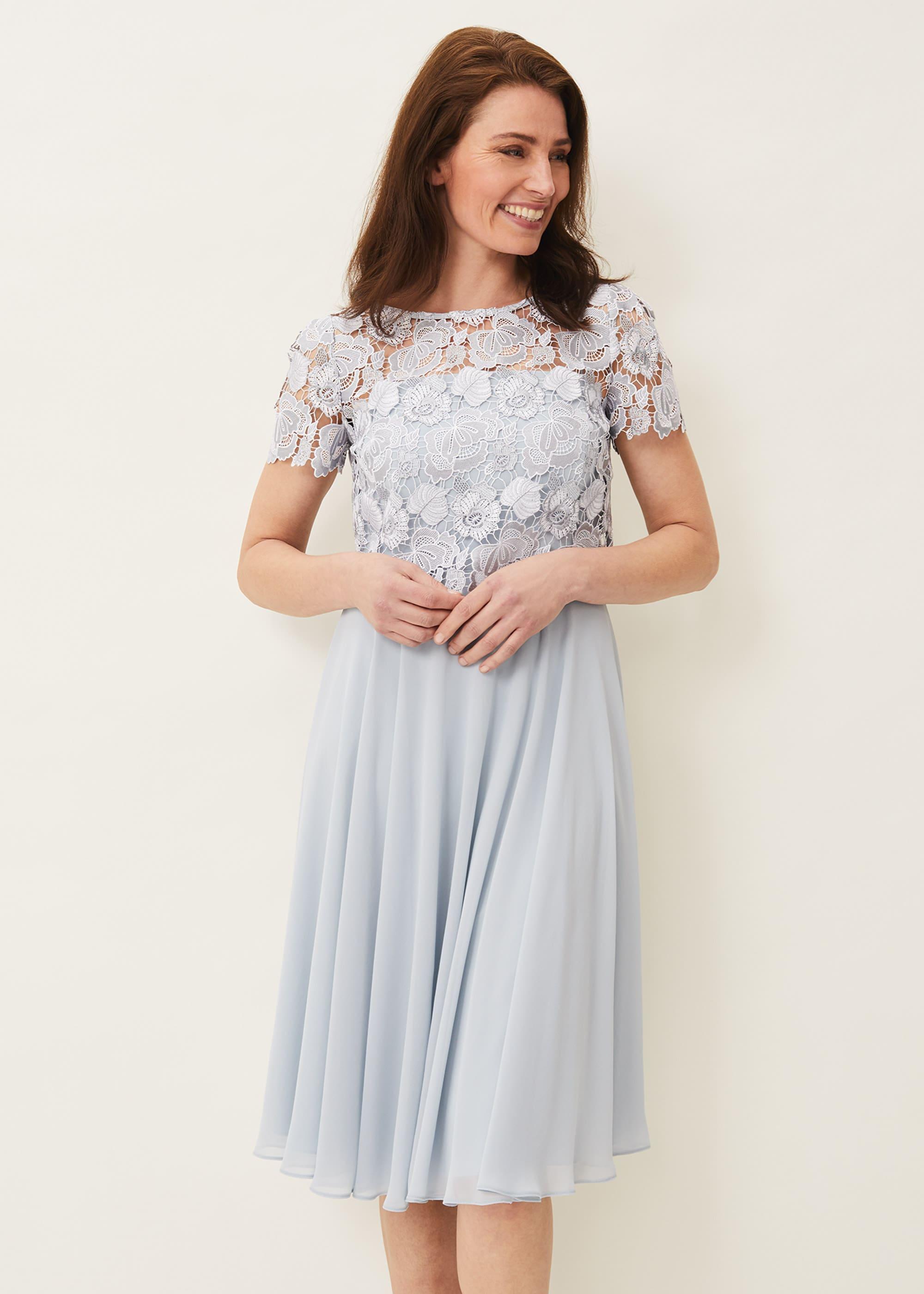 Phase Eight Women Brandie Lace Bodice Chiffon Dress