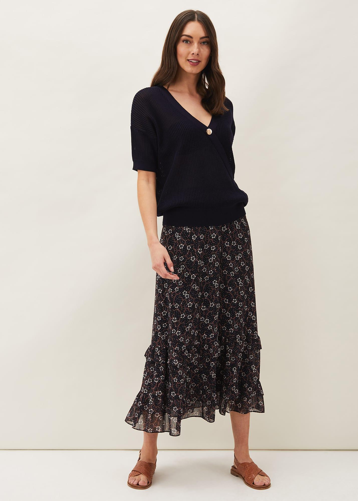 Phase Eight Women Bernice Buttercup Printed Skirt