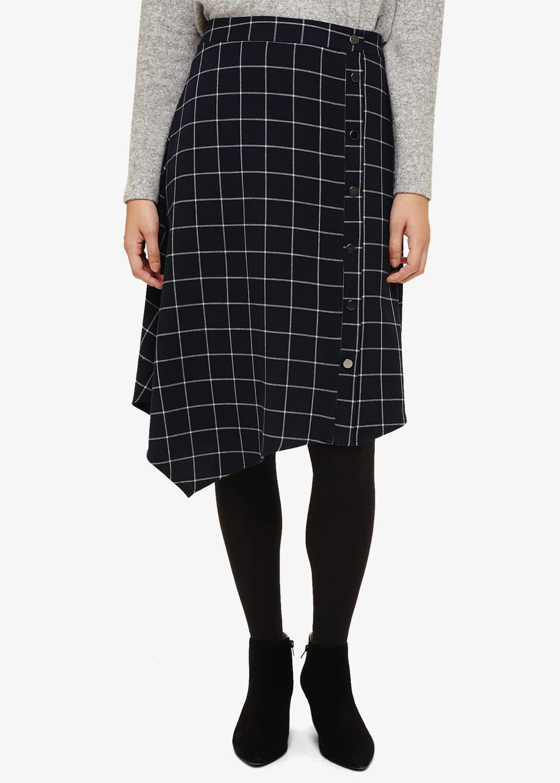Phase Eight Women Juin Check Button Skirt