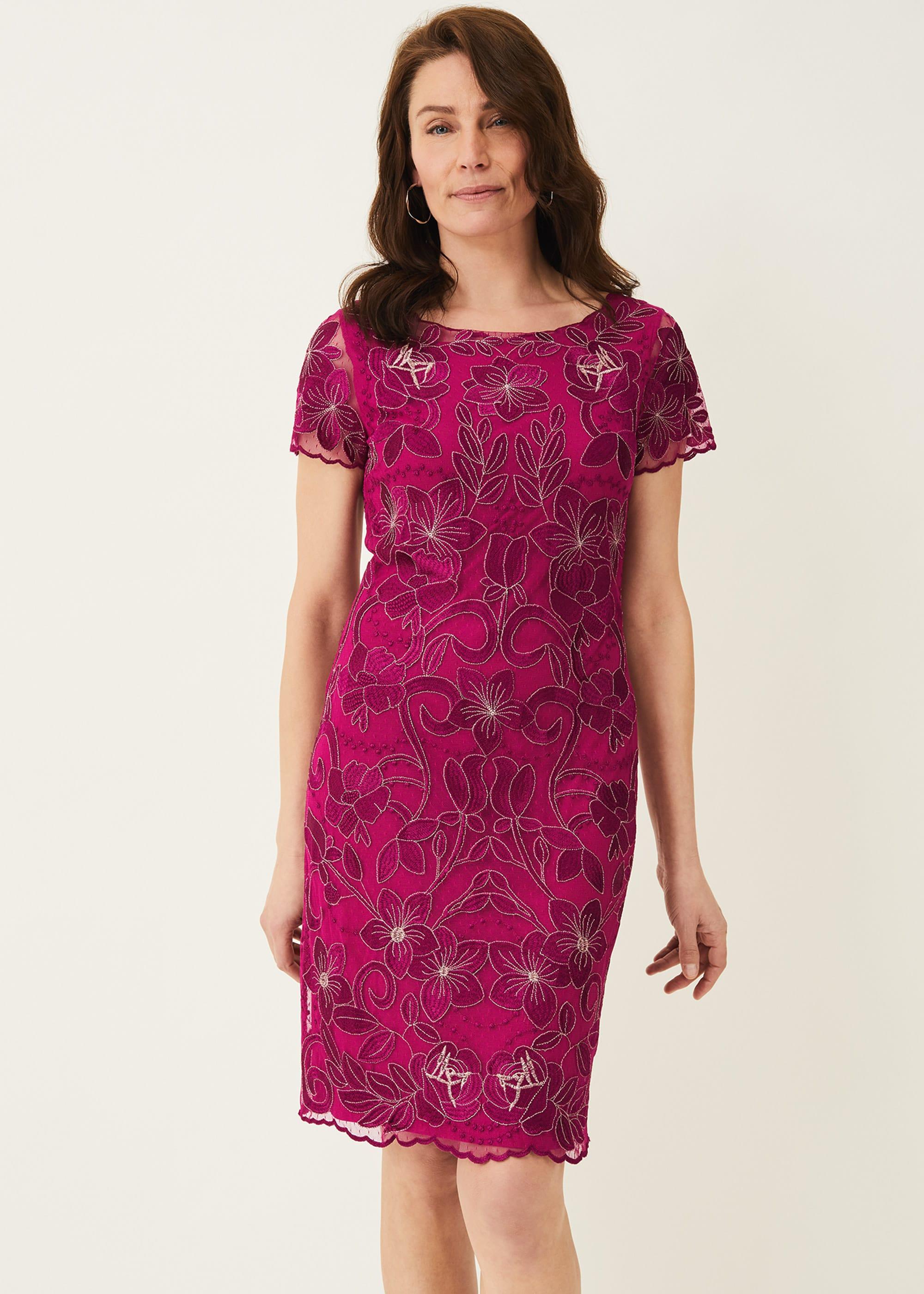 Phase Eight Women Nessa Embroidered Dress