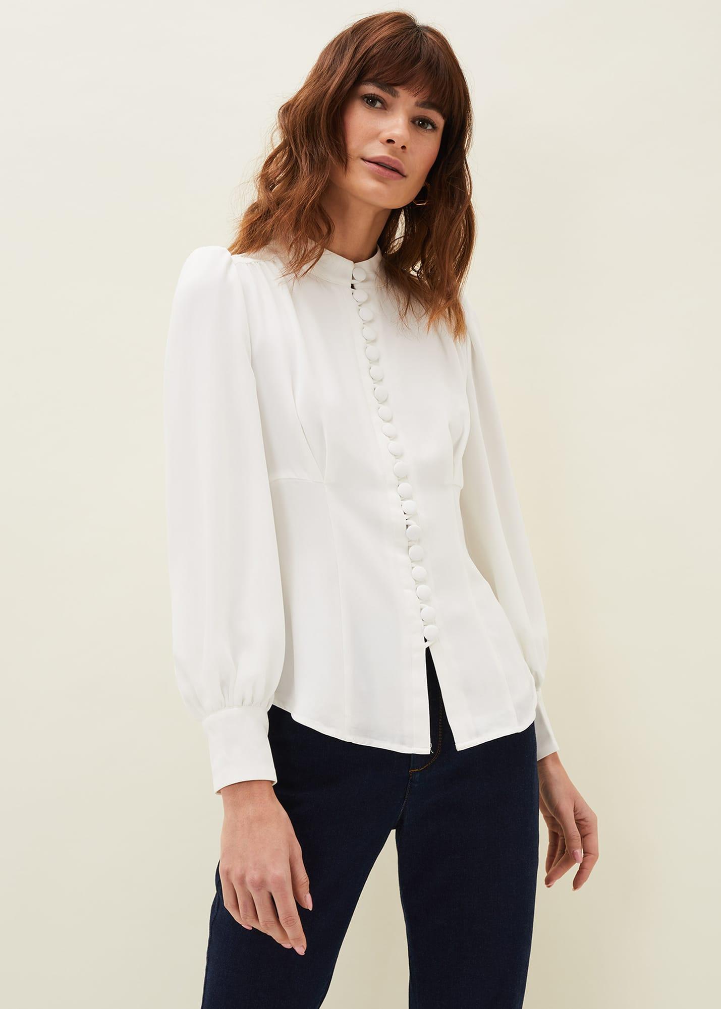 Damsel in a Dress Women Alix Button Blouse