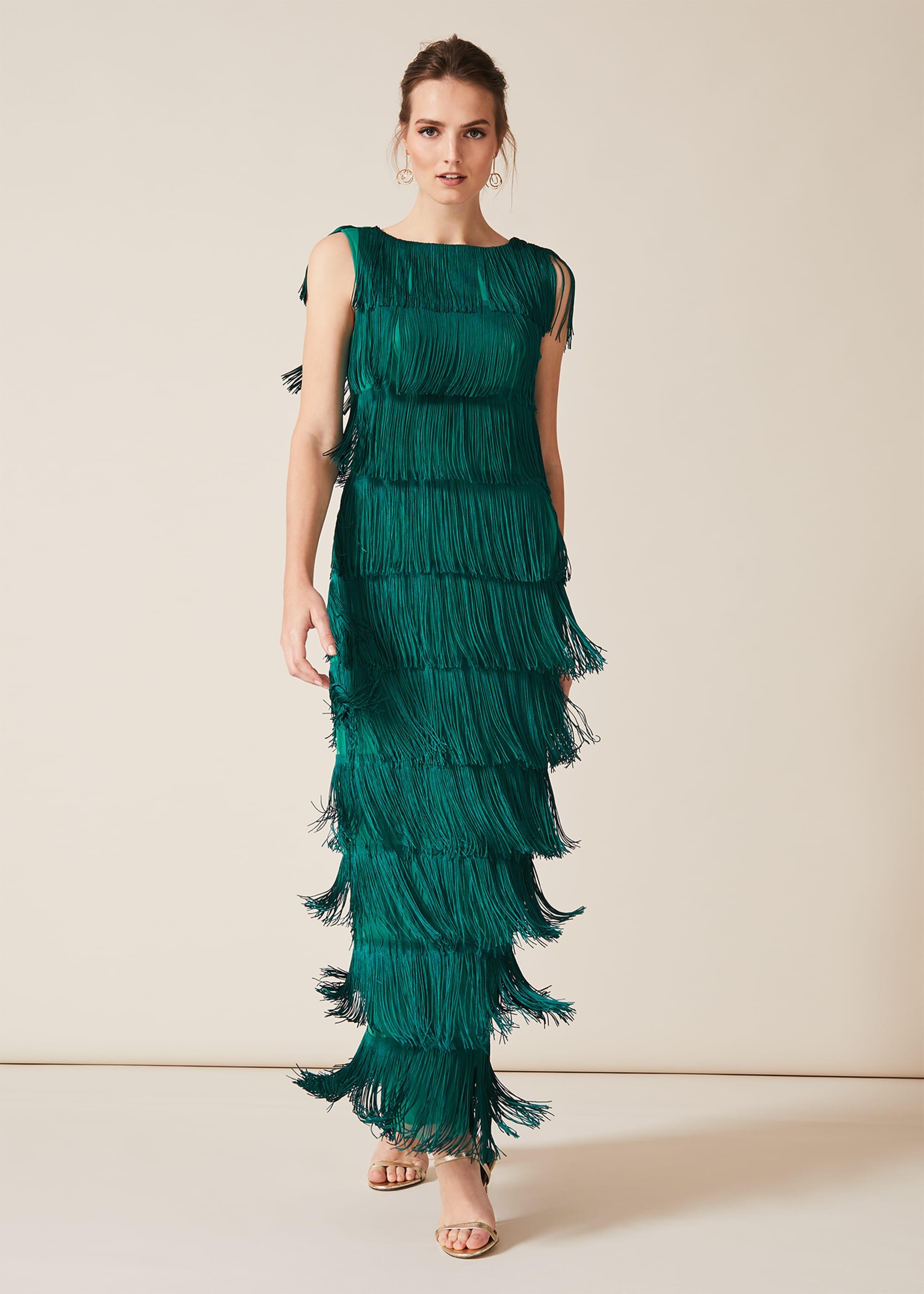 Phase Eight Women Ismay Fringe Maxi Dress
