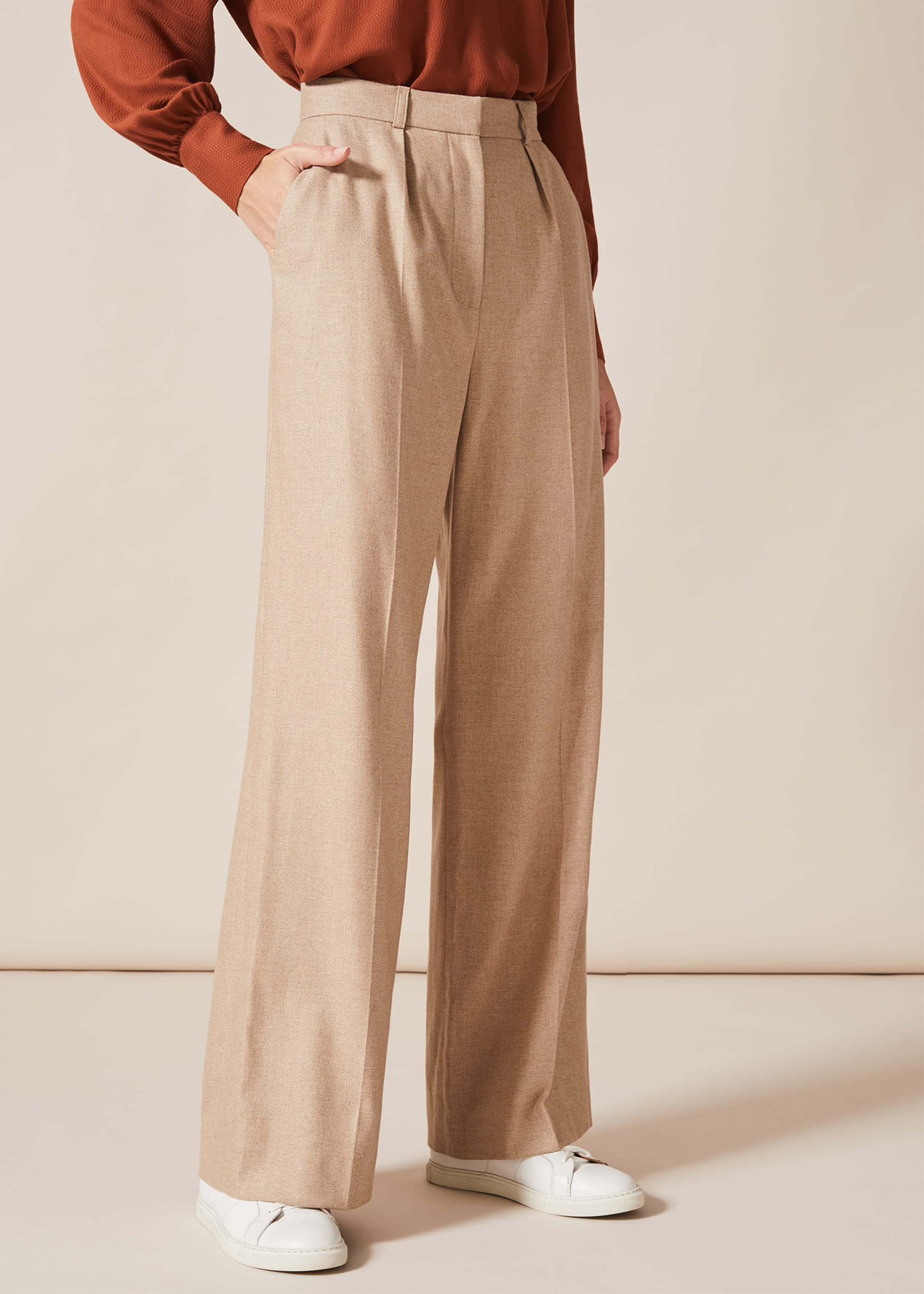1950s Style Clothing & Fashion Phase Eight Women Ishara Flannel Trousers £33.00 AT vintagedancer.com