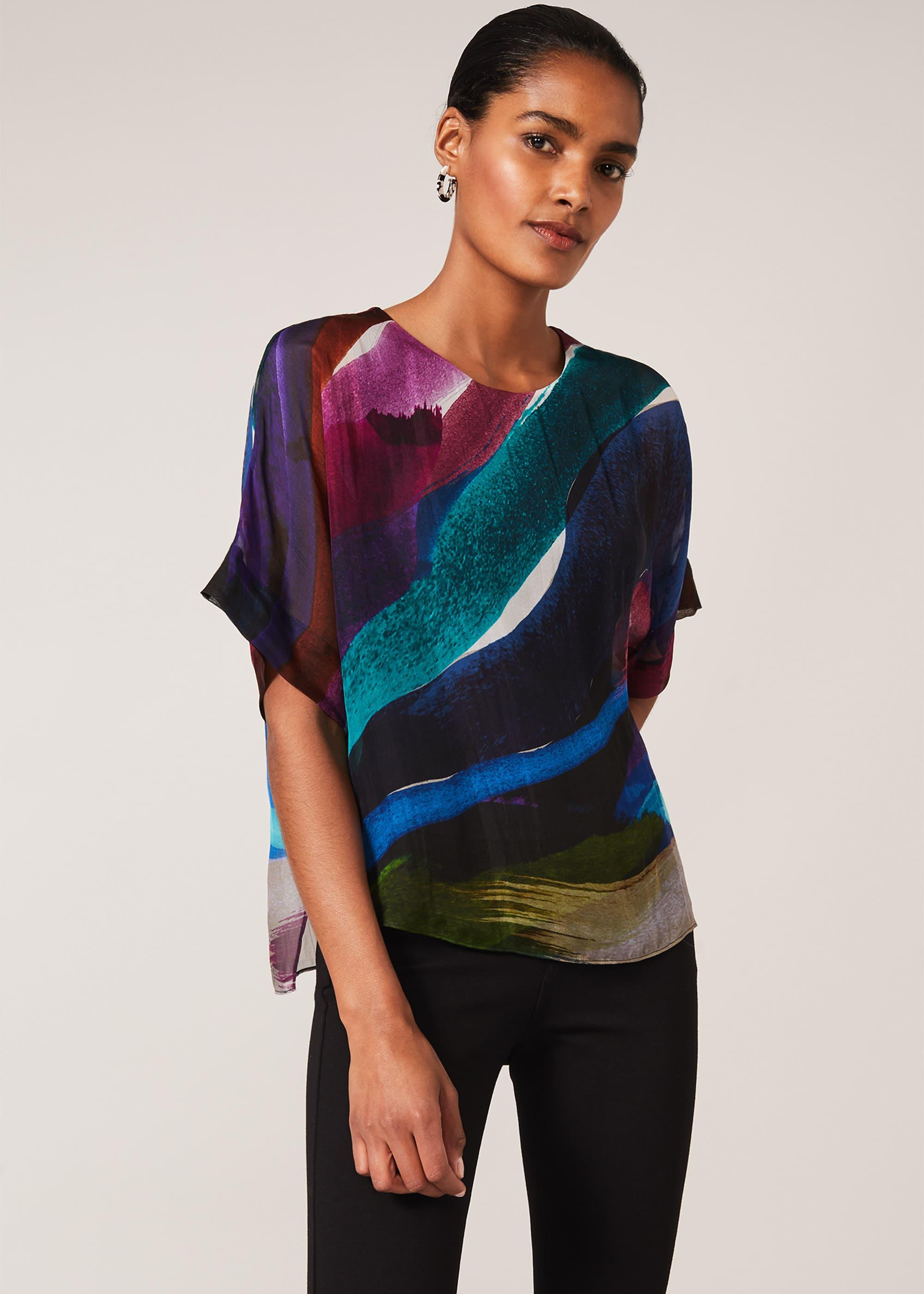 Phase Eight Women Clem Swirl Silk Blouse