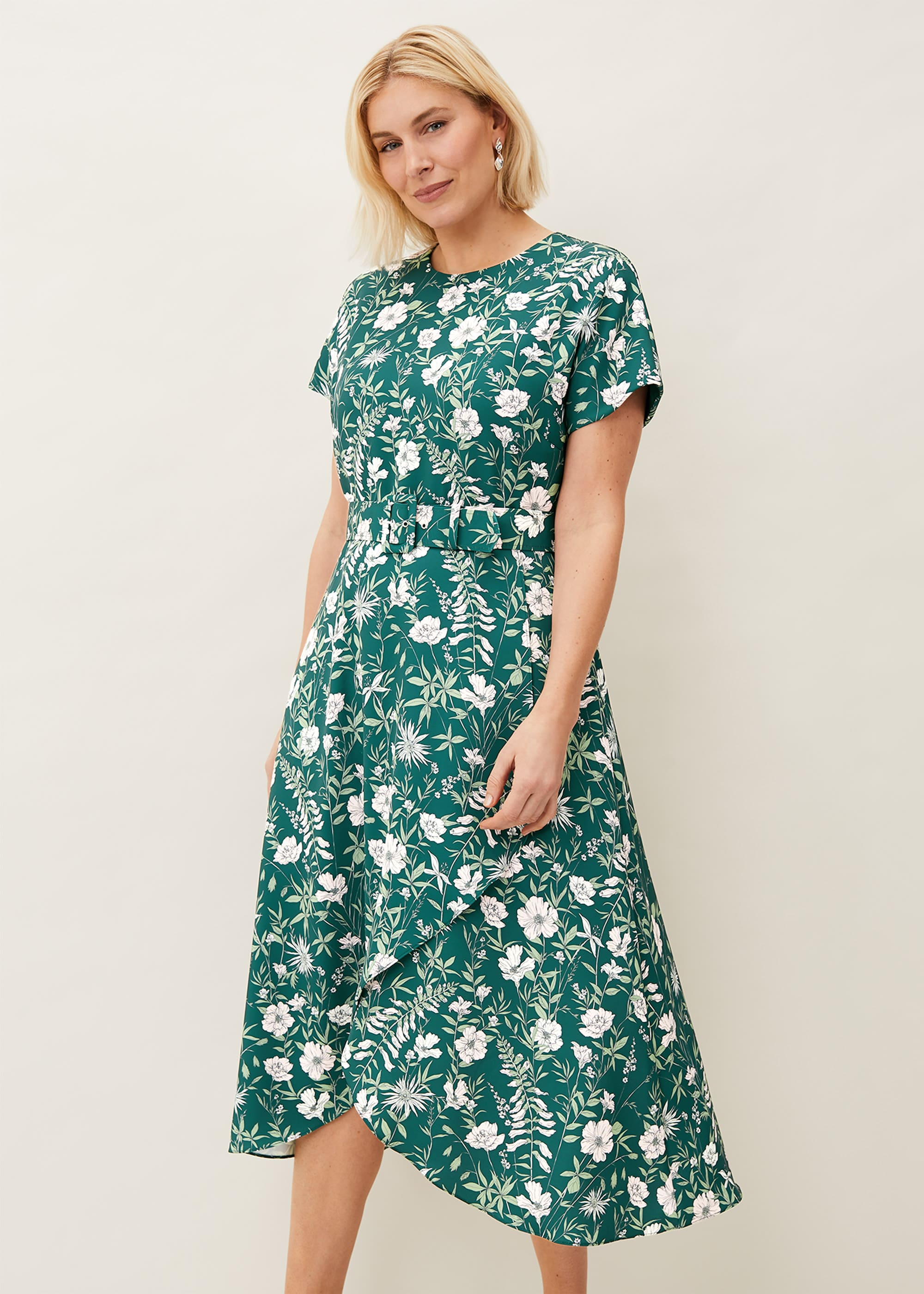 Phase Eight Women Dee Floral Frill Dress