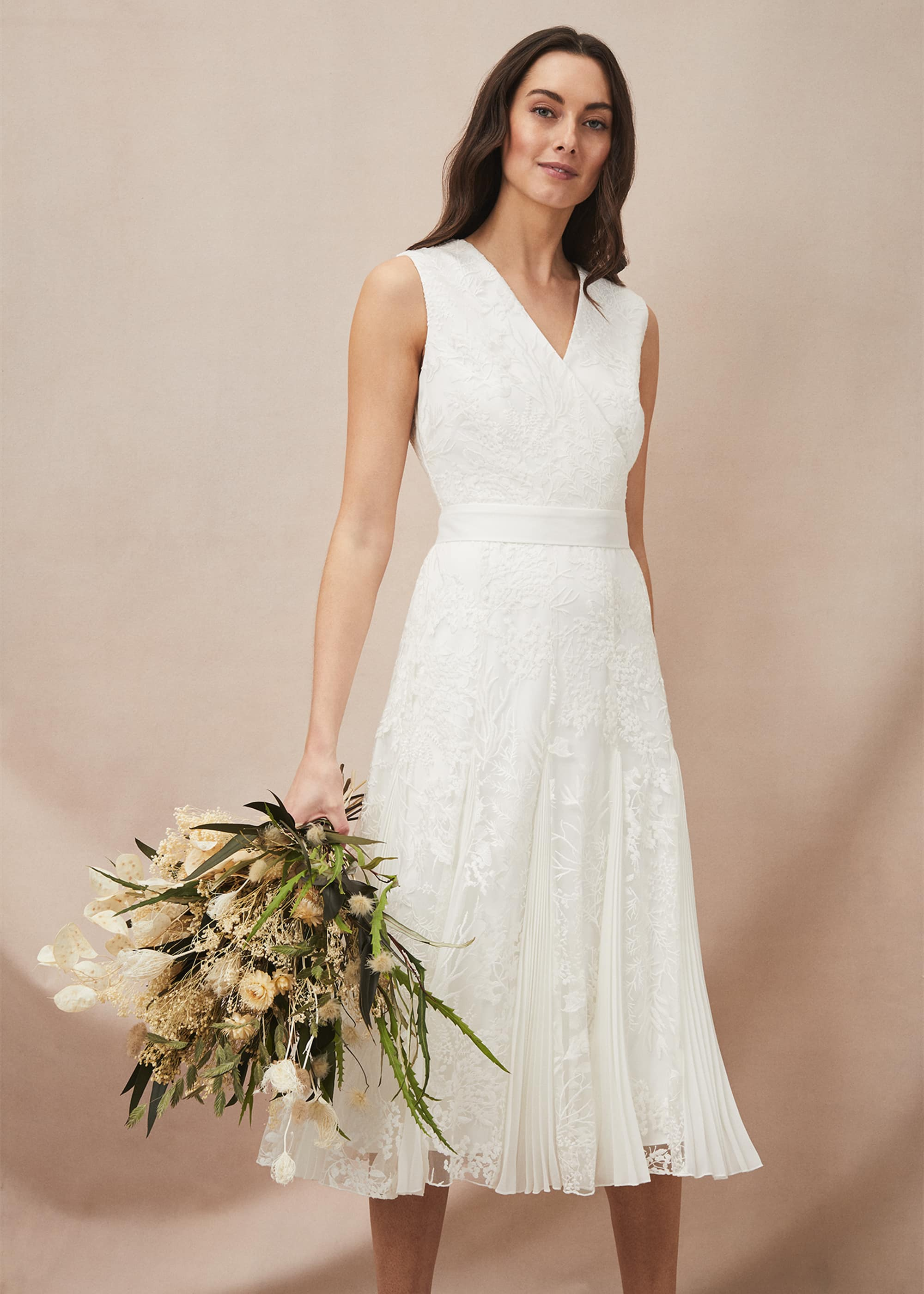 Phase Eight Women Caterina Embroidered Flared Wedding Dress