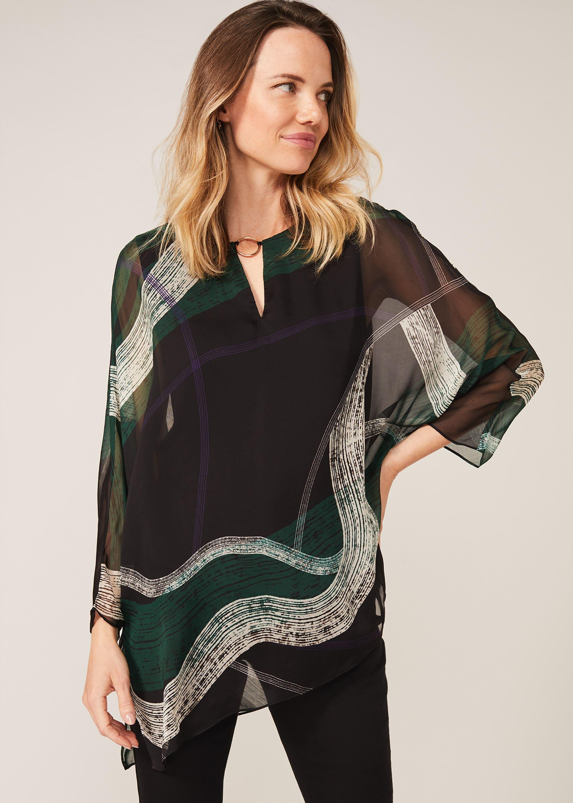 Phase Eight Women Alyssa Swirl Silk Blouse