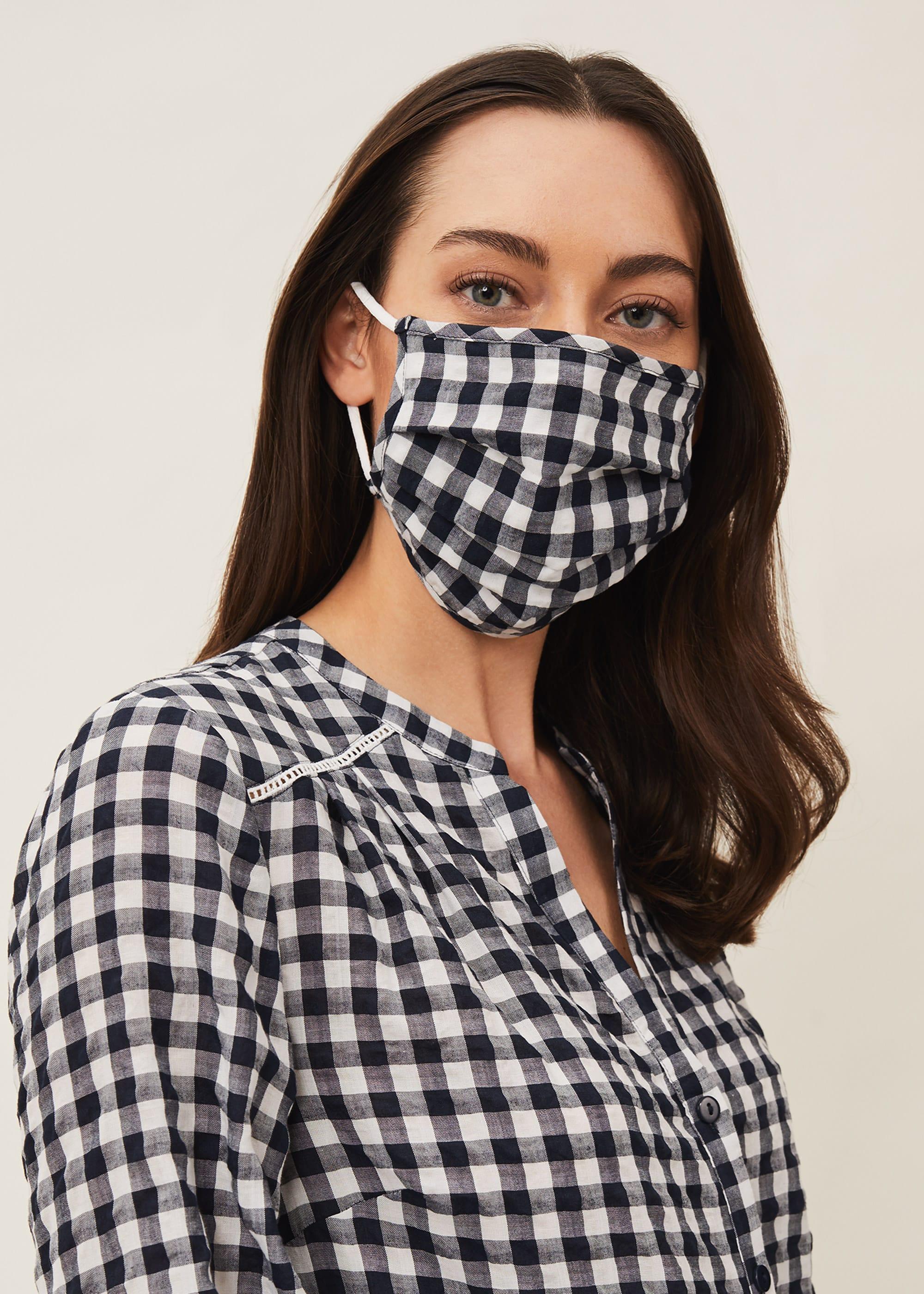 Phase Eight Women Gingham Face Mask